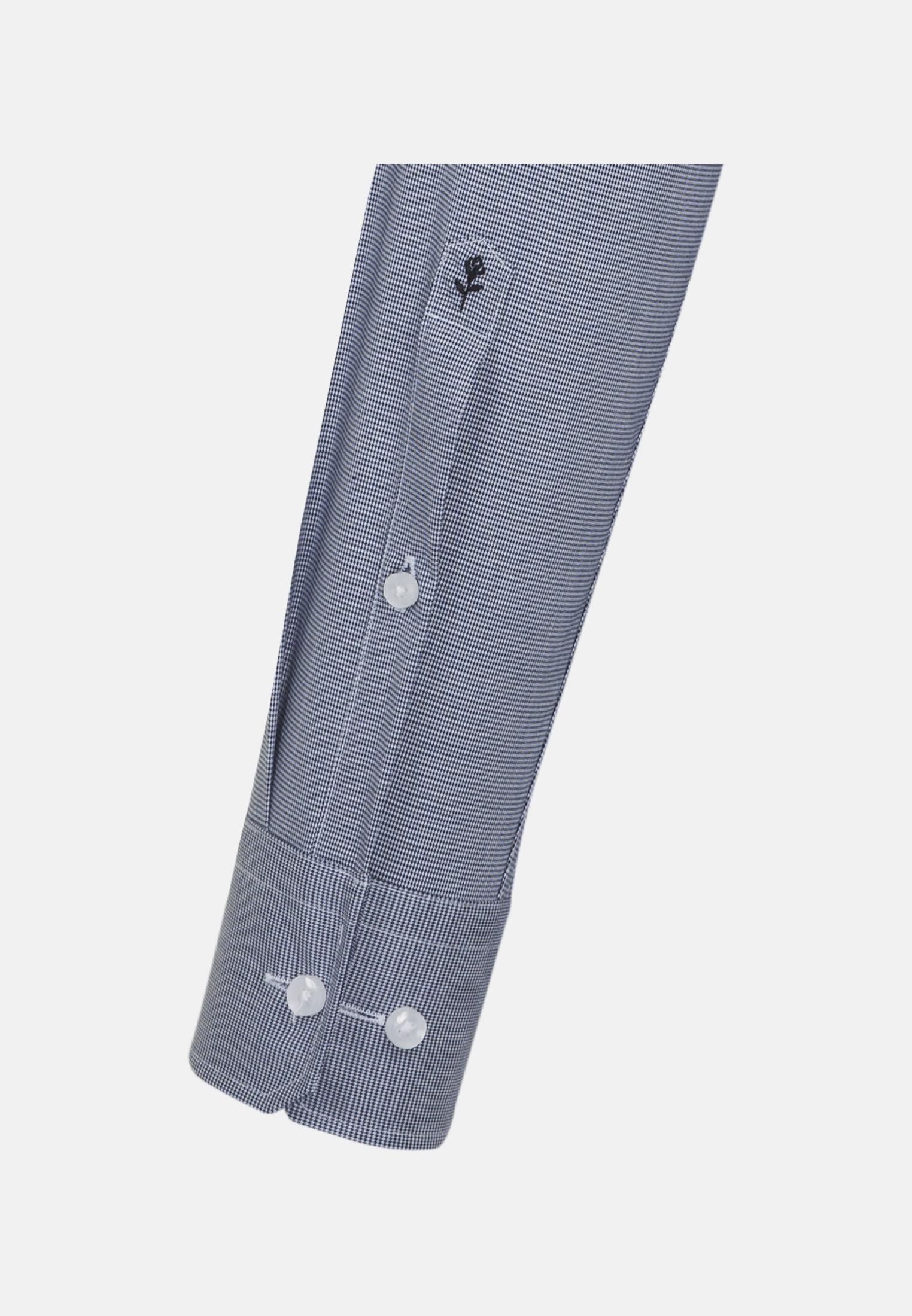 Non-iron Structure Business Shirt in Modern with Kent-Collar in blau    Seidensticker Onlineshop