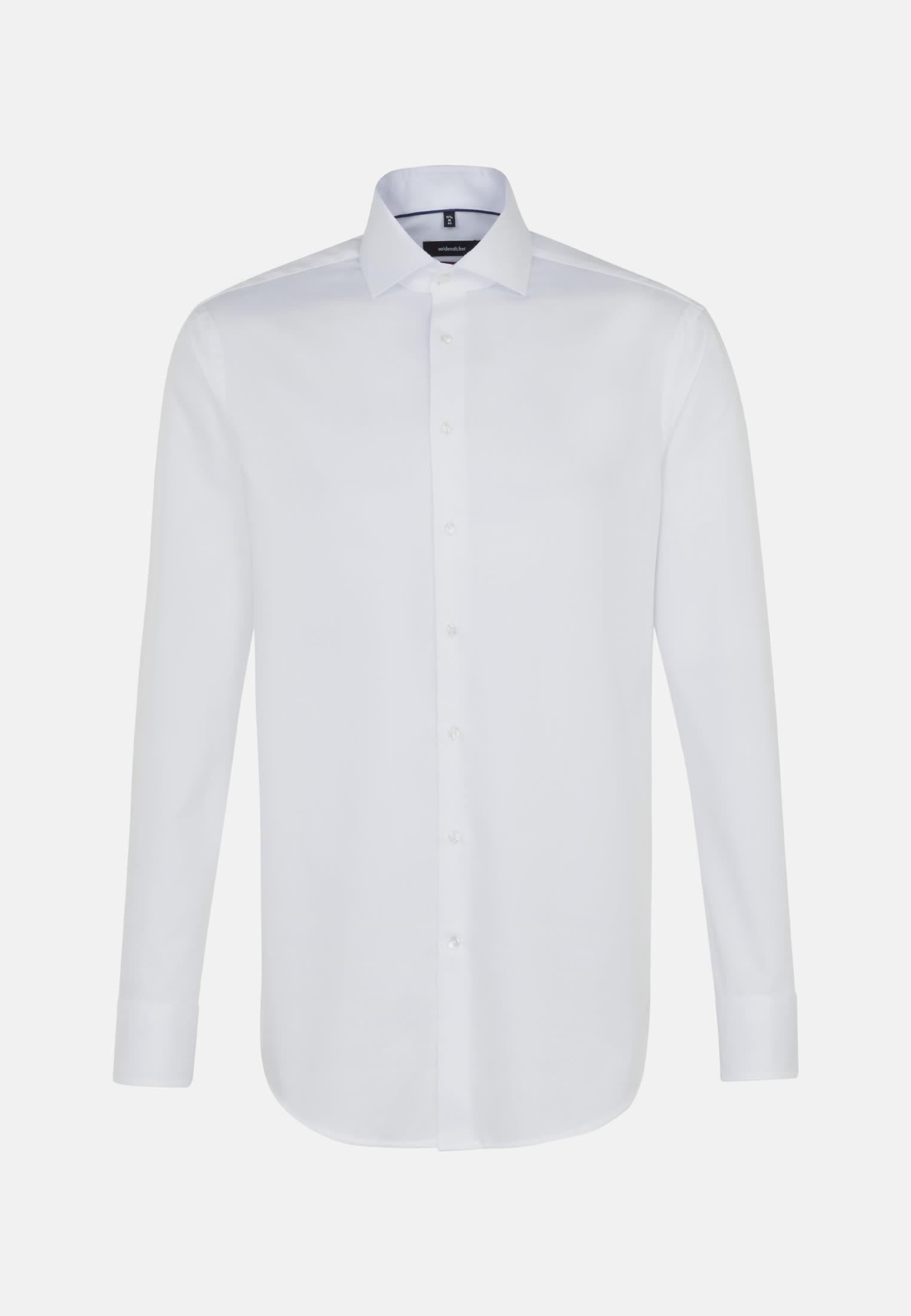 Non-iron Herringbone pattern Business Shirt in Modern with Kent-Collar in White |  Seidensticker Onlineshop