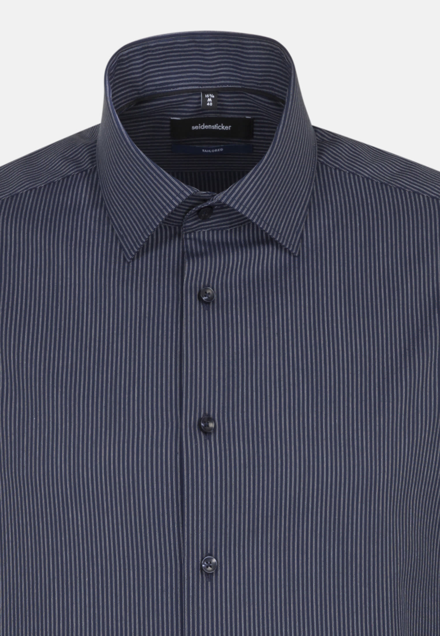 Non-iron Poplin Business Shirt in Tailored with Kent-Collar in blau    Seidensticker Onlineshop