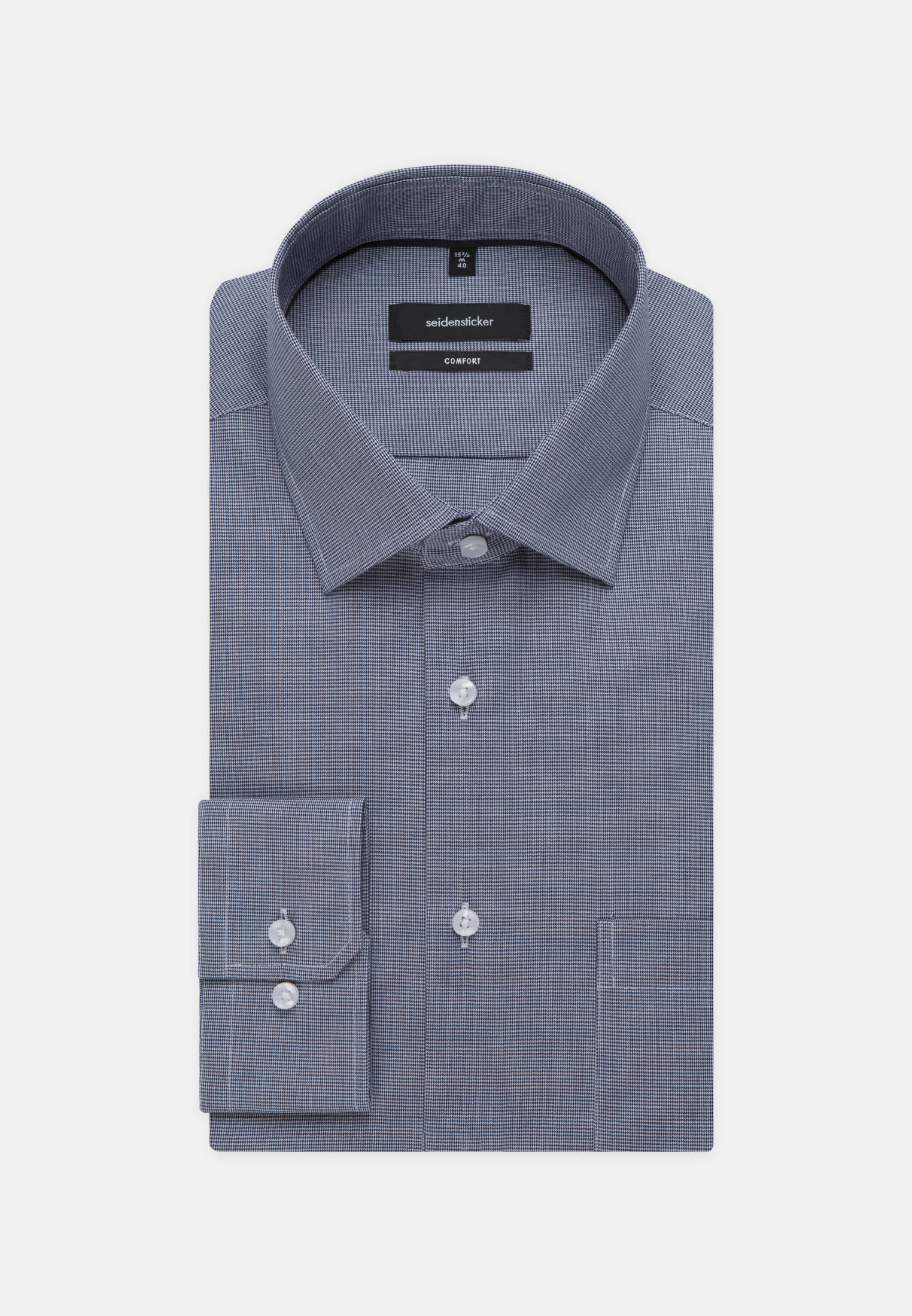 Non-iron Structure Business Shirt in Comfort with Kent-Collar in Light blue |  Seidensticker Onlineshop