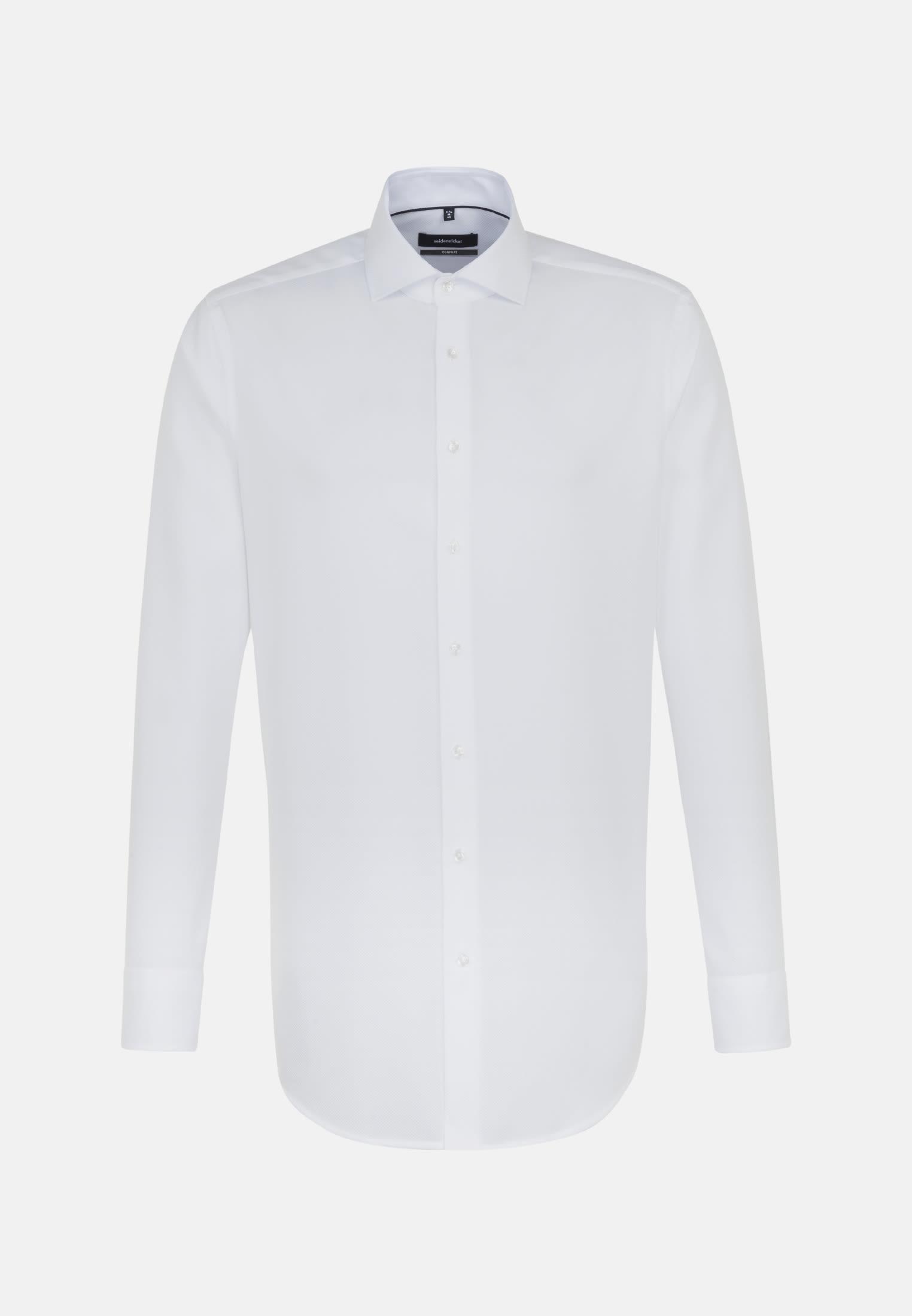 Non-iron Structure Business Shirt in Comfort with Kent-Collar in weiß    Seidensticker Onlineshop