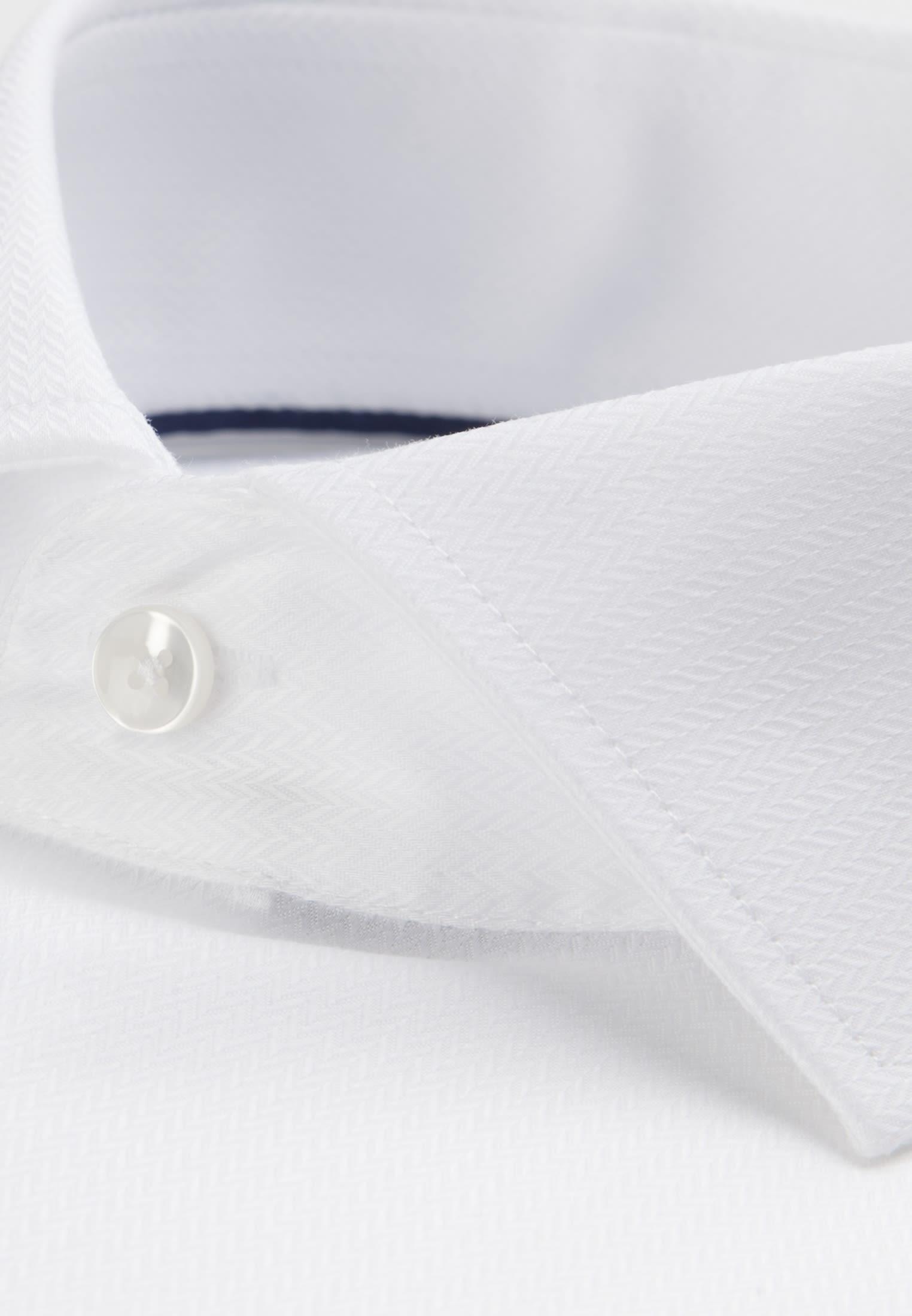 Non-iron Herringbone pattern Business Shirt in X-Slim with Kent-Collar in weiß    Seidensticker Onlineshop