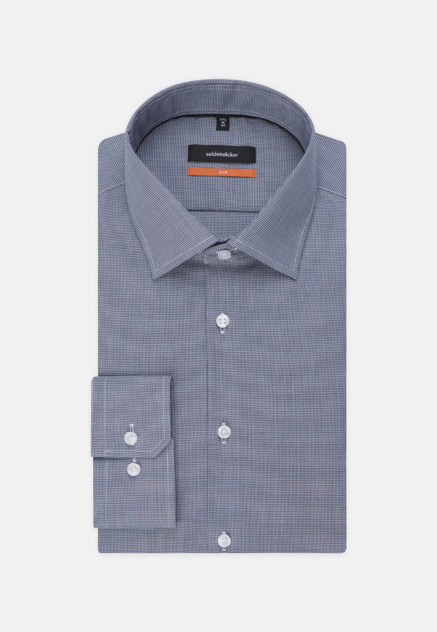 Non-iron Structure Business Shirt in Slim with Kent-Collar in blau |  Seidensticker Onlineshop