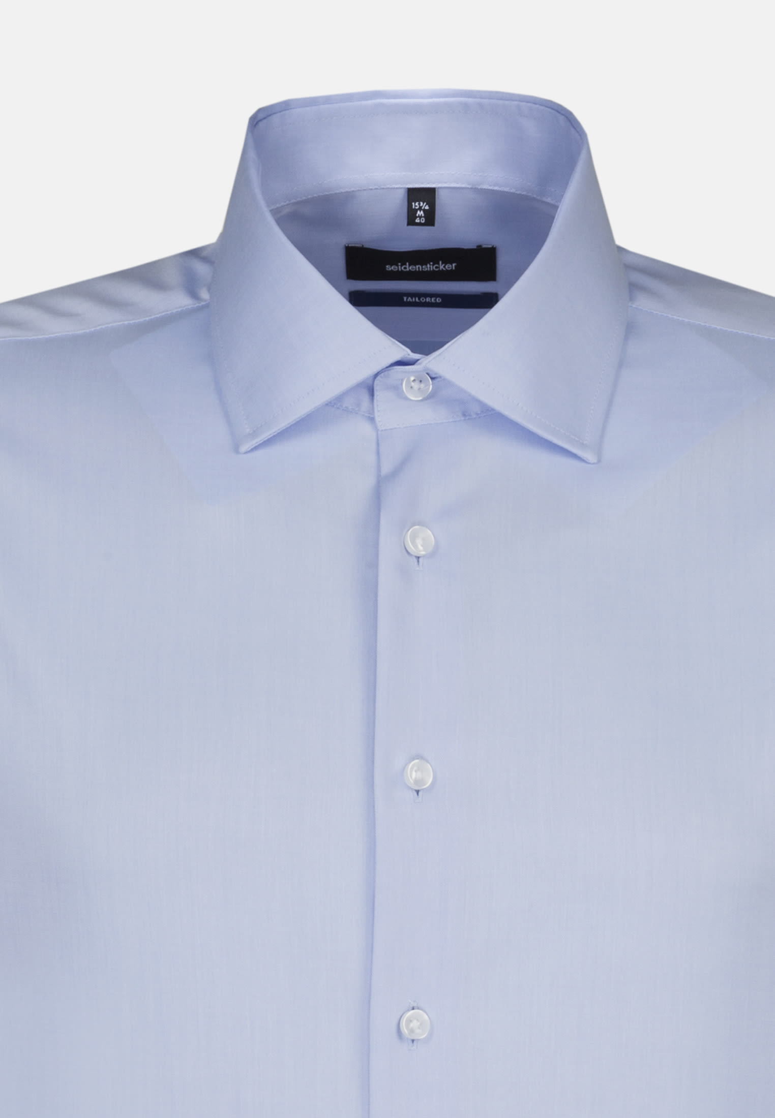 Non-iron Twill Business Shirt in Shaped with Kent-Collar in Hellblau |  Seidensticker Onlineshop