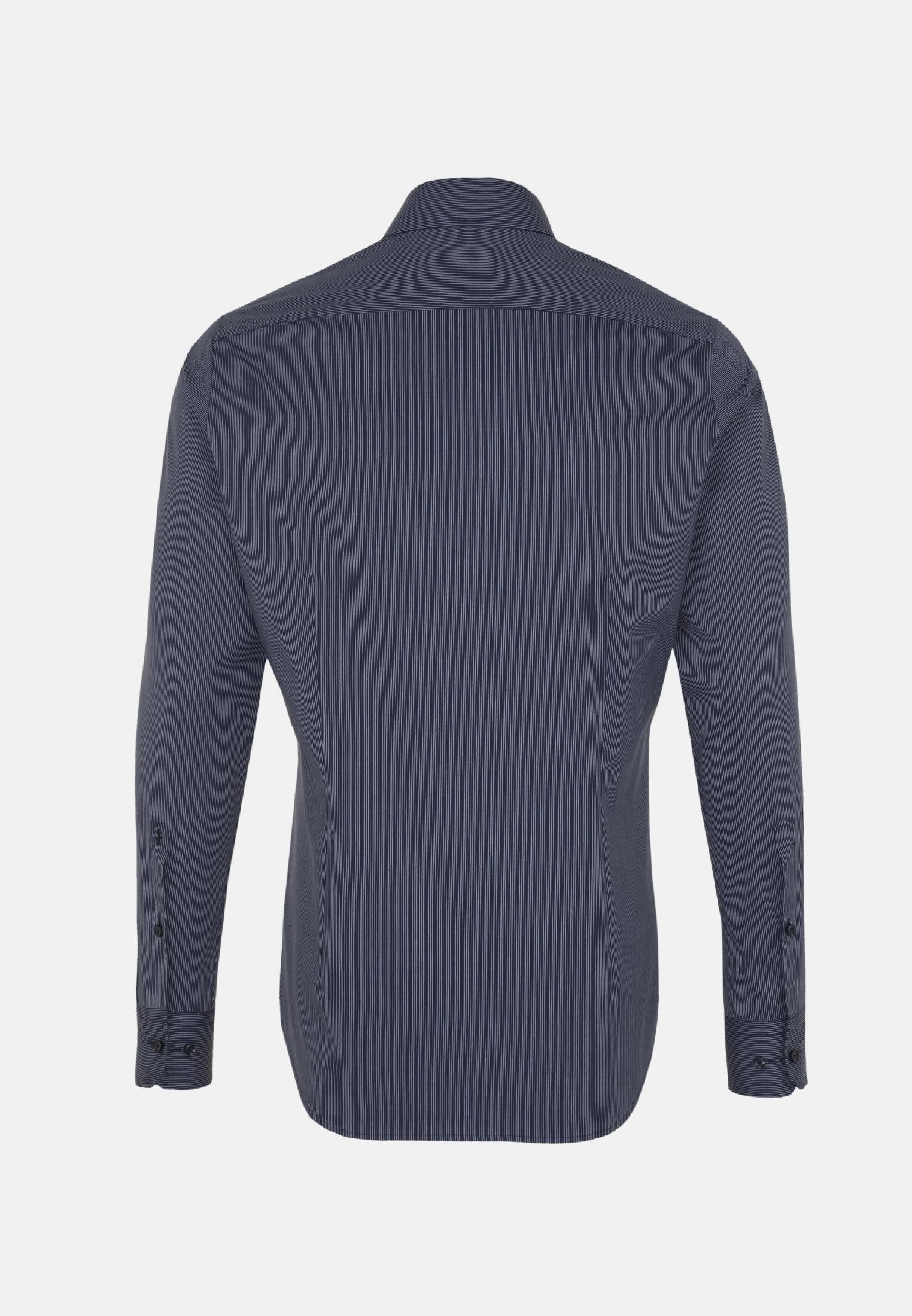 Non-iron Poplin Business Shirt in Slim with Kent-Collar in blau |  Seidensticker Onlineshop