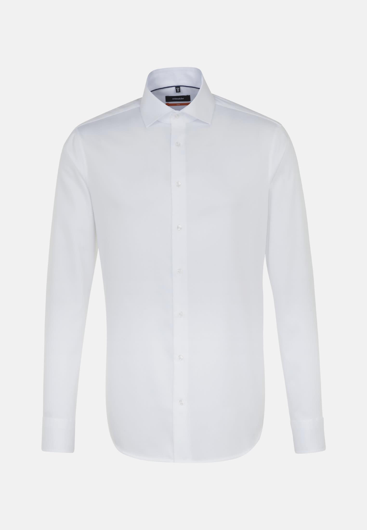 Bügelfreies Fischgrat Business Hemd in Slim mit Kentkragen in Weiß    Seidensticker Onlineshop