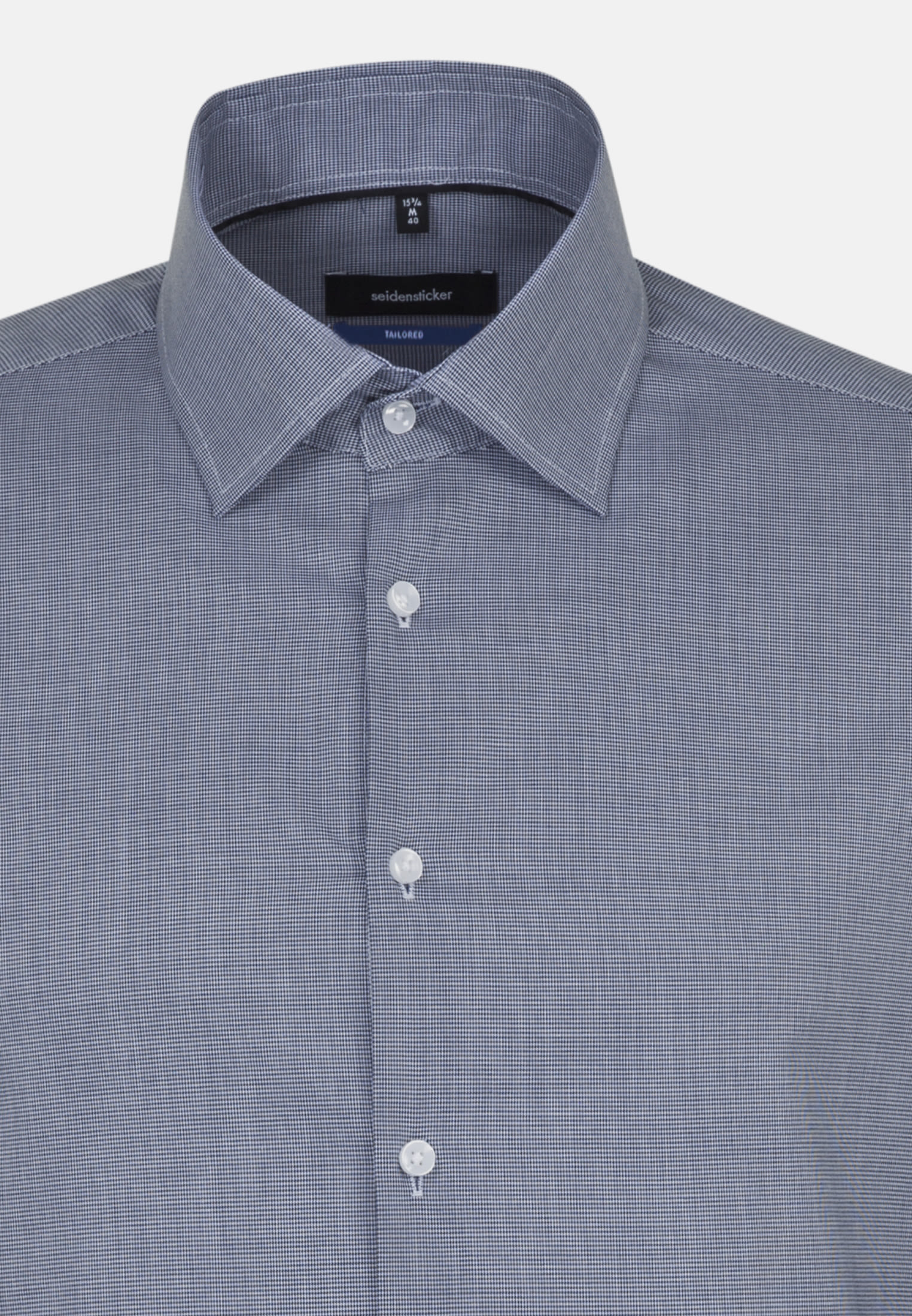 Non-iron Structure Business Shirt in Tailored with Kent-Collar in blau |  Seidensticker Onlineshop