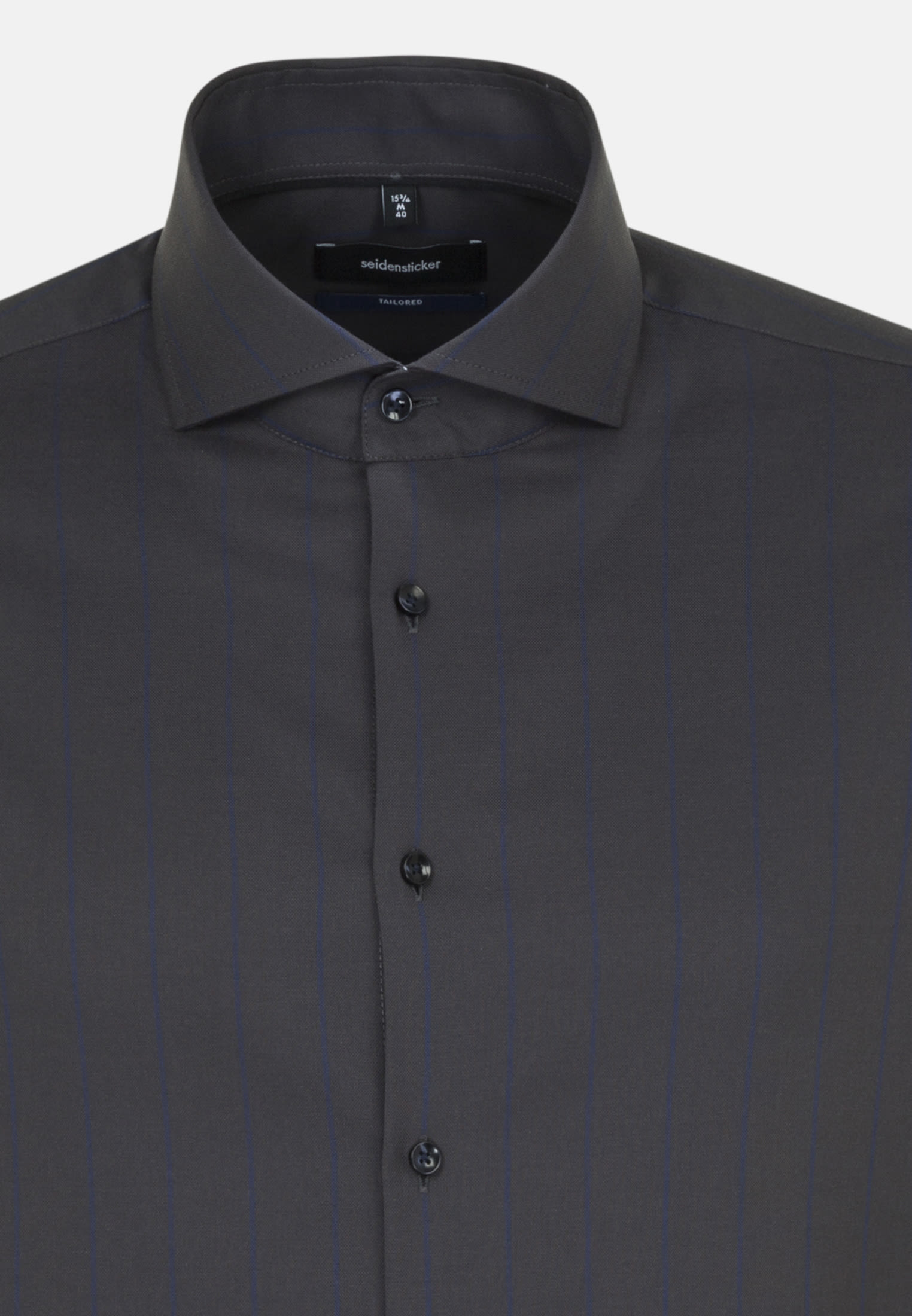 Easy-iron Structure Business Shirt in Tailored with Shark Collar in blau |  Seidensticker Onlineshop
