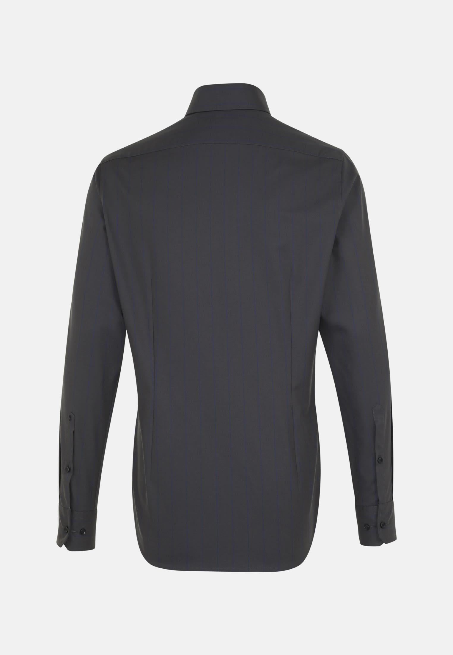 Bügelleichtes Struktur Business Hemd in Slim mit Haifischkragen in Dunkelblau |  Seidensticker Onlineshop