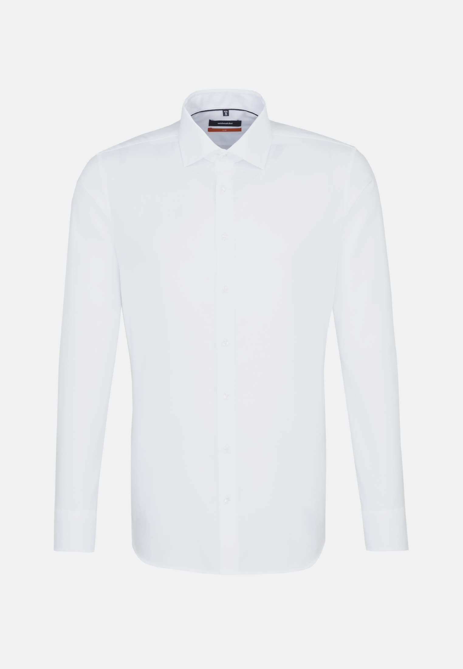 Non-iron Structure Business Shirt in Slim with Kent-Collar and extra long arm in White |  Seidensticker Onlineshop