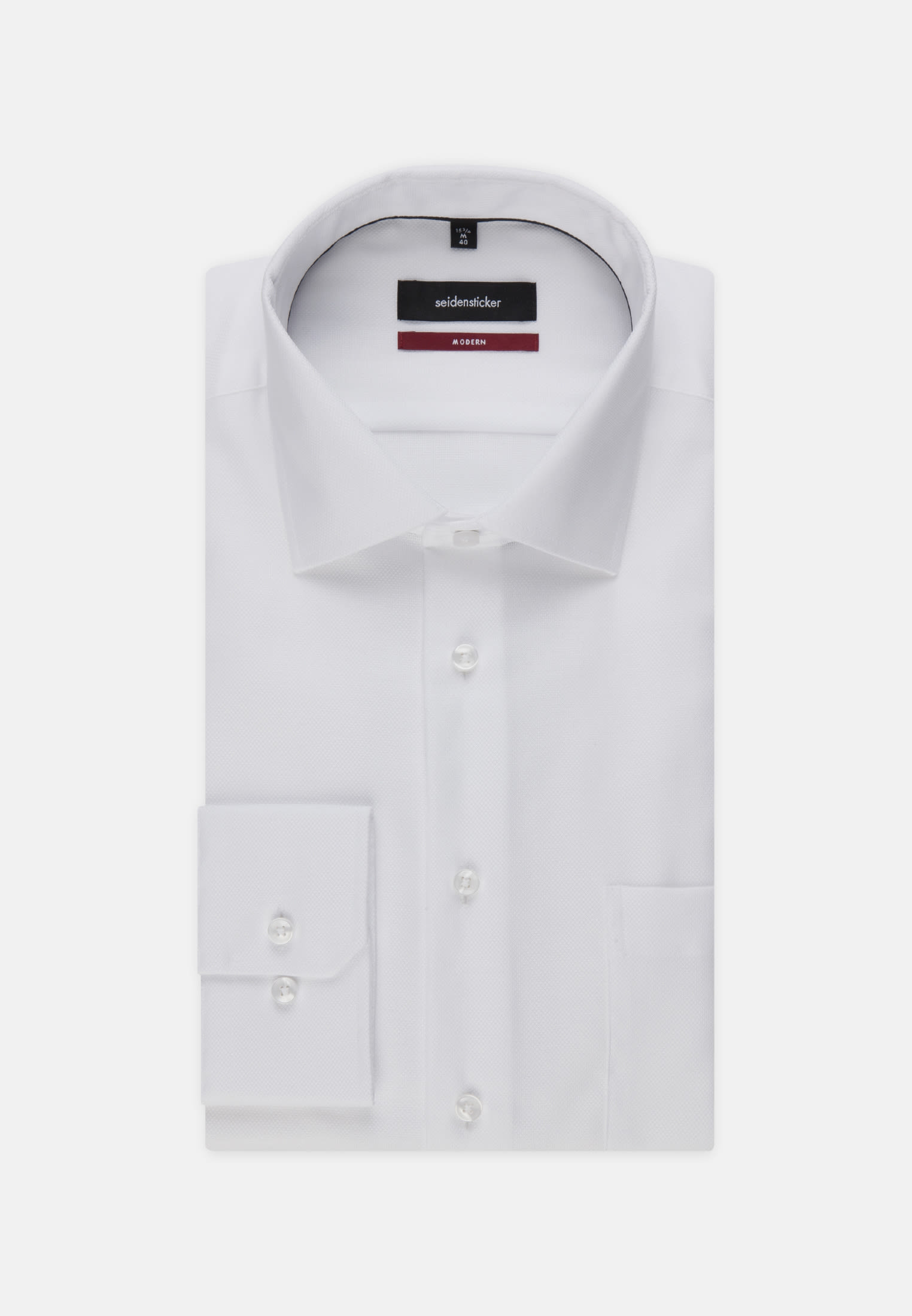 Non-iron Structure Business Shirt in Modern with Kent-Collar in White |  Seidensticker Onlineshop
