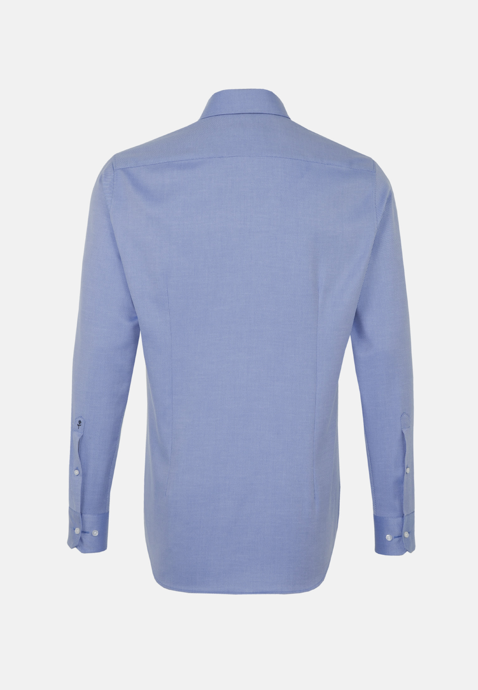 Bügelleichtes Twill Business Hemd in Shaped mit Kentkragen in Mittelblau |  Seidensticker Onlineshop