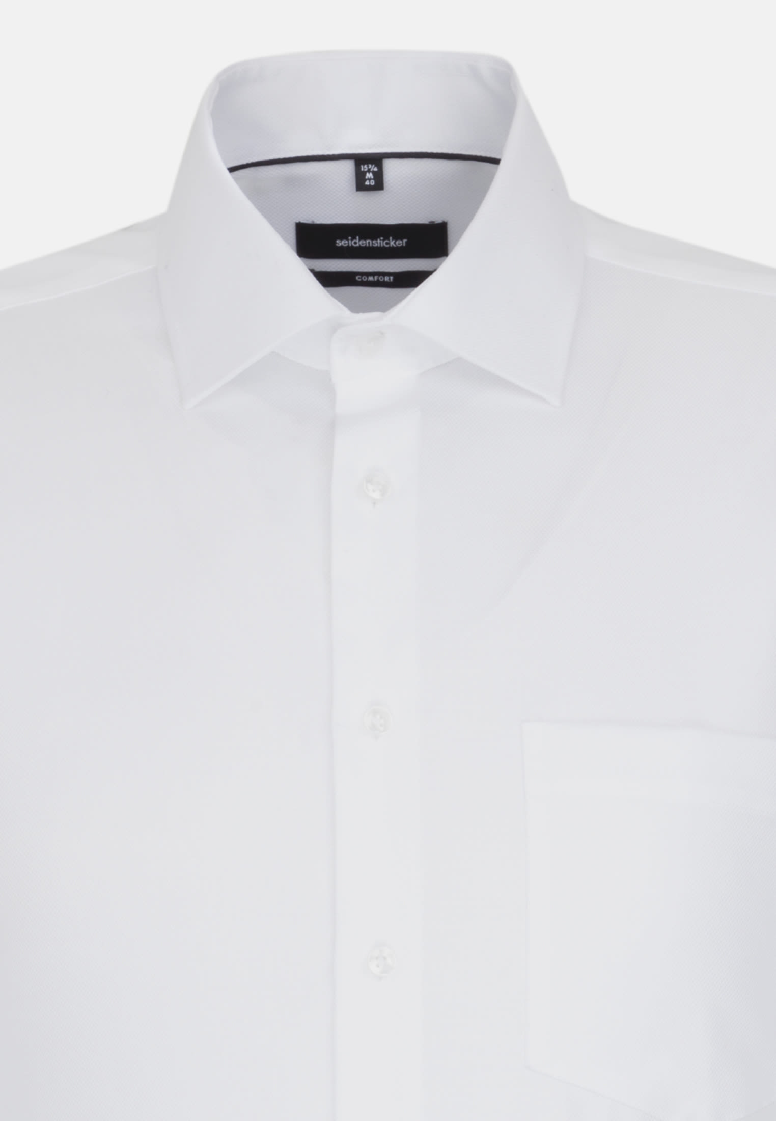 Non-iron Structure Business Shirt in Comfort with Kent-Collar in weiß |  Seidensticker Onlineshop