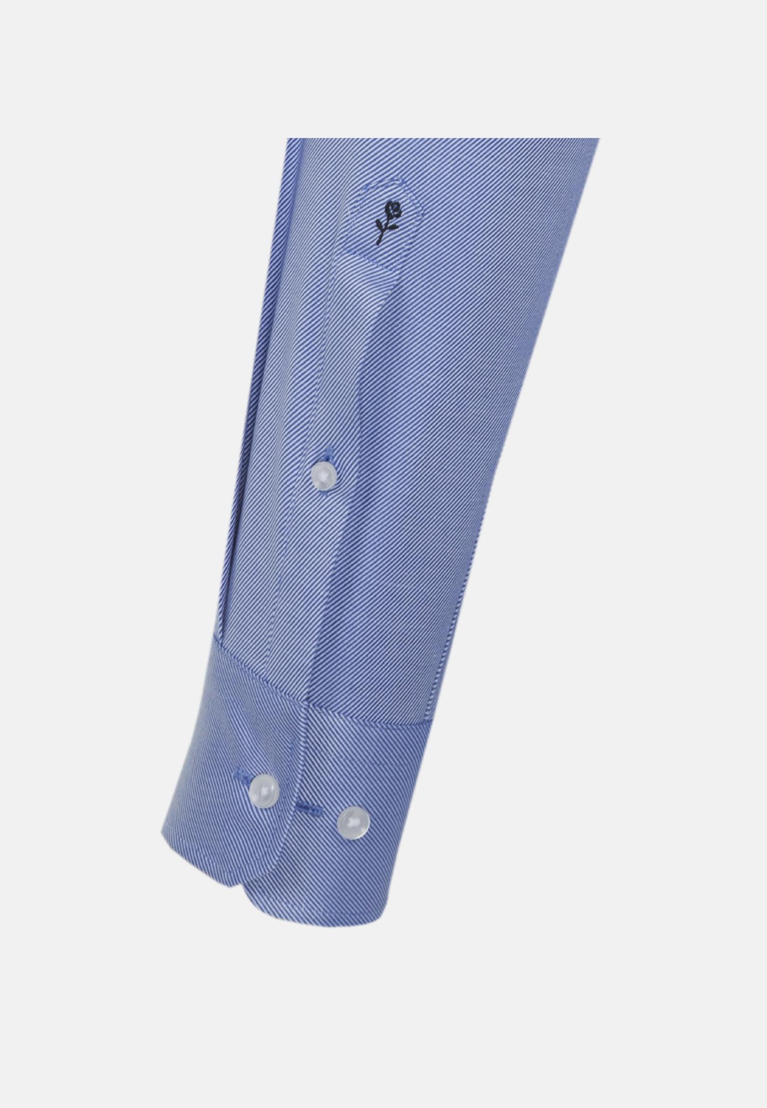 Easy-iron Twill Business Shirt in Slim with Kent-Collar in Mittelblau |  Seidensticker Onlineshop