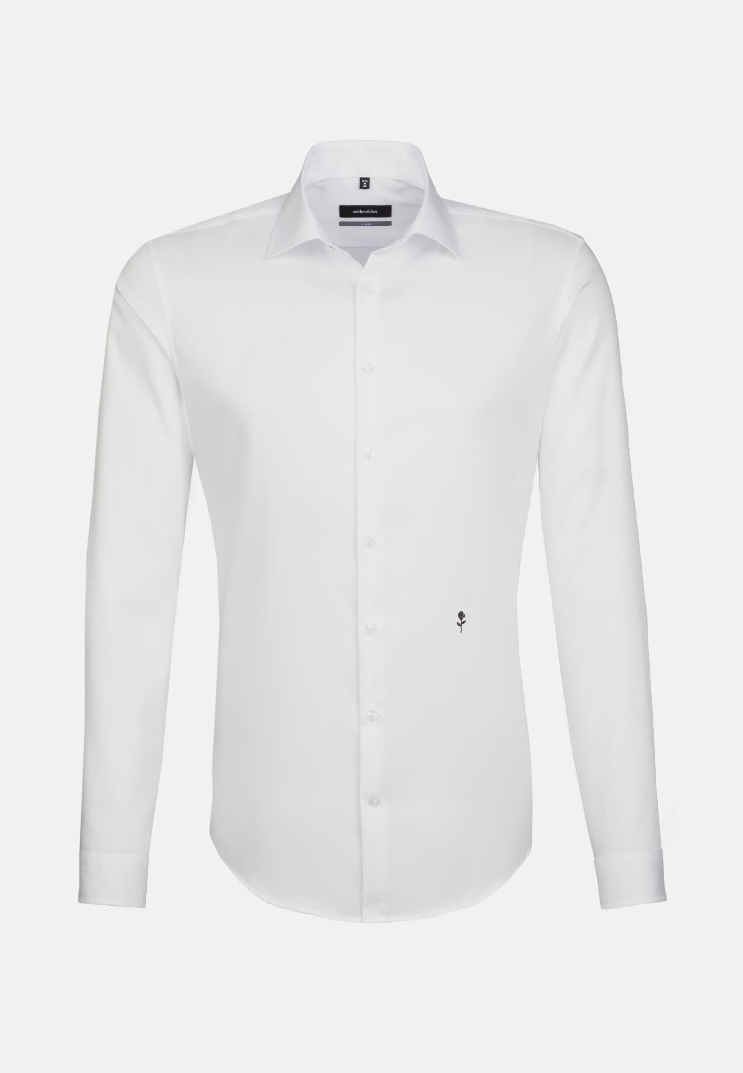 Non-iron Twill Business Shirt in X-Slim with Kent-Collar in White |  Seidensticker Onlineshop