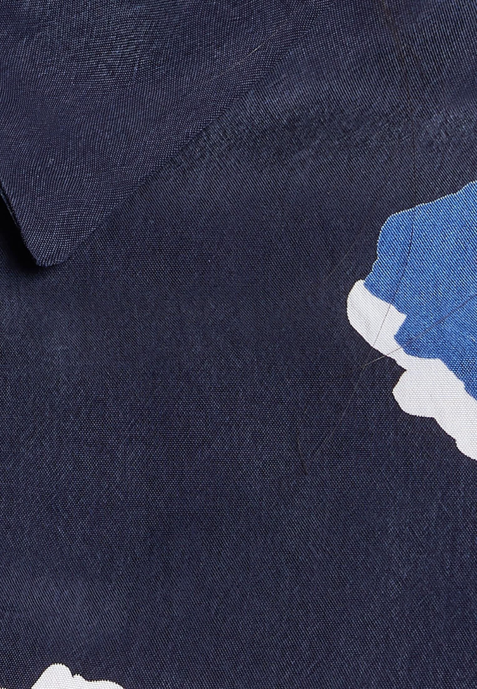 Hemdbluse aus 100% Cupro in Dunkelblau |  Seidensticker Onlineshop