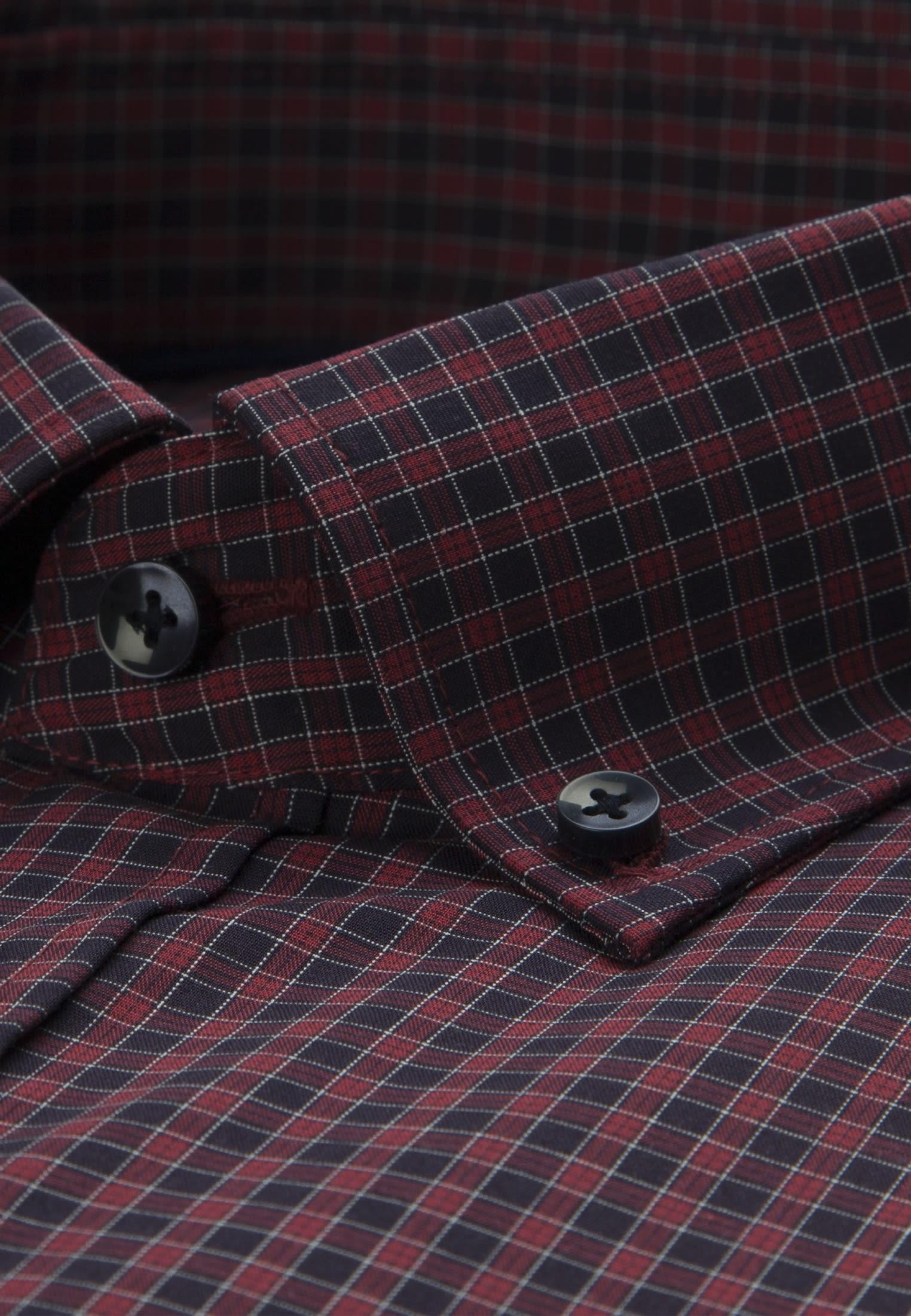 Bügelfreies Popeline Business Hemd in Slim mit Button-Down-Kragen in Rot |  Seidensticker Onlineshop