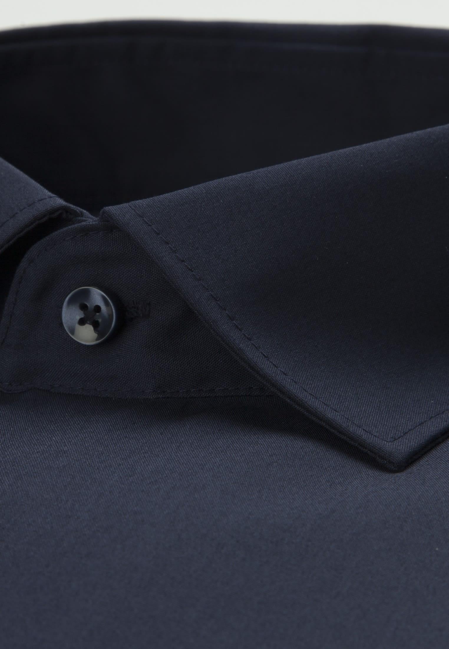 Bügelfreies Popeline Business Hemd in Regular mit Kentkragen in Dunkelblau    Seidensticker Onlineshop