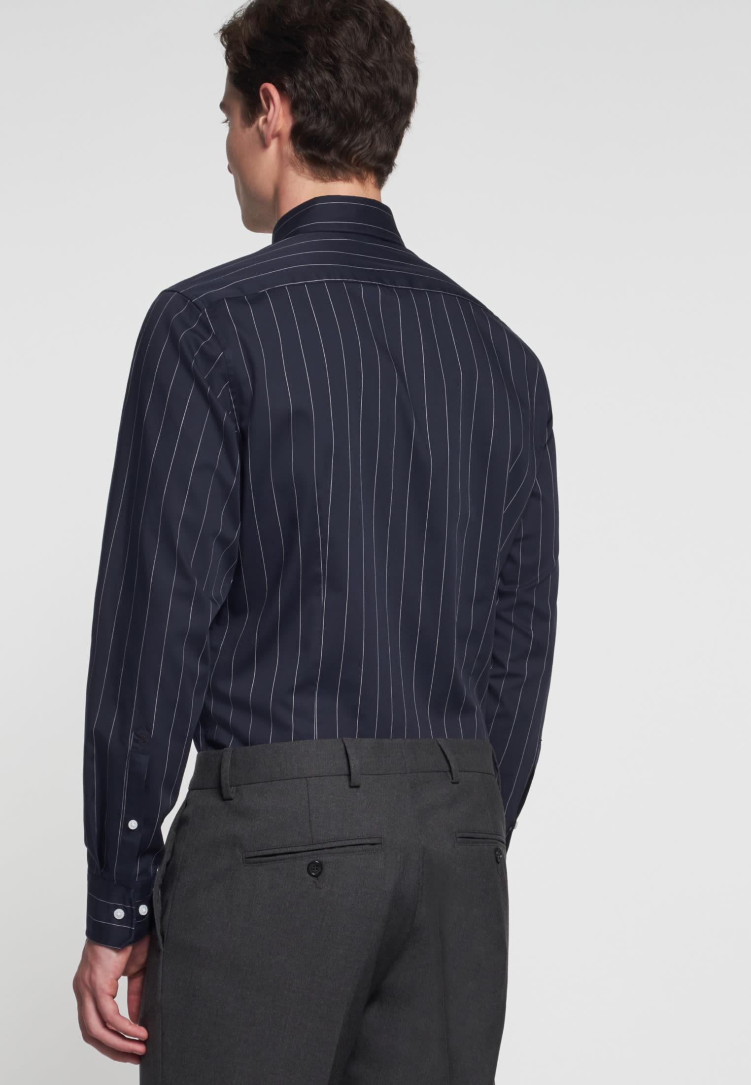Easy-iron Twill Business Shirt in Tailored with Kent-Collar in blau |  Seidensticker Onlineshop