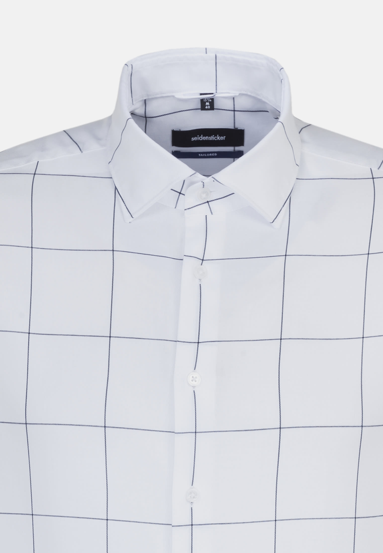 Easy-iron Twill Business Shirt in Tailored with Kent-Collar in Light blue    Seidensticker Onlineshop