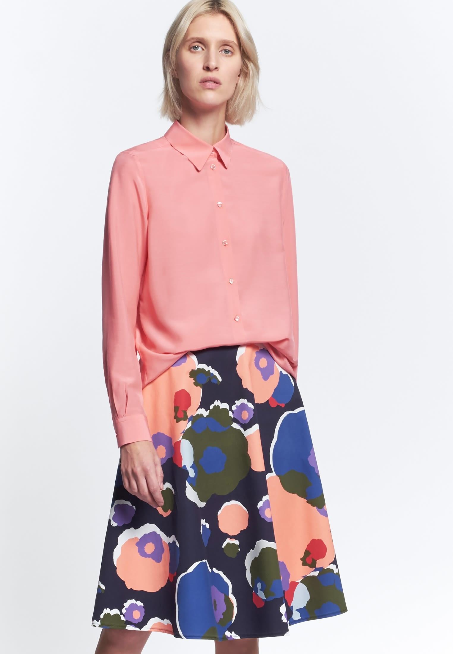 Voile Hemdbluse aus 100% Viskose in Rosa/Pink |  Seidensticker Onlineshop