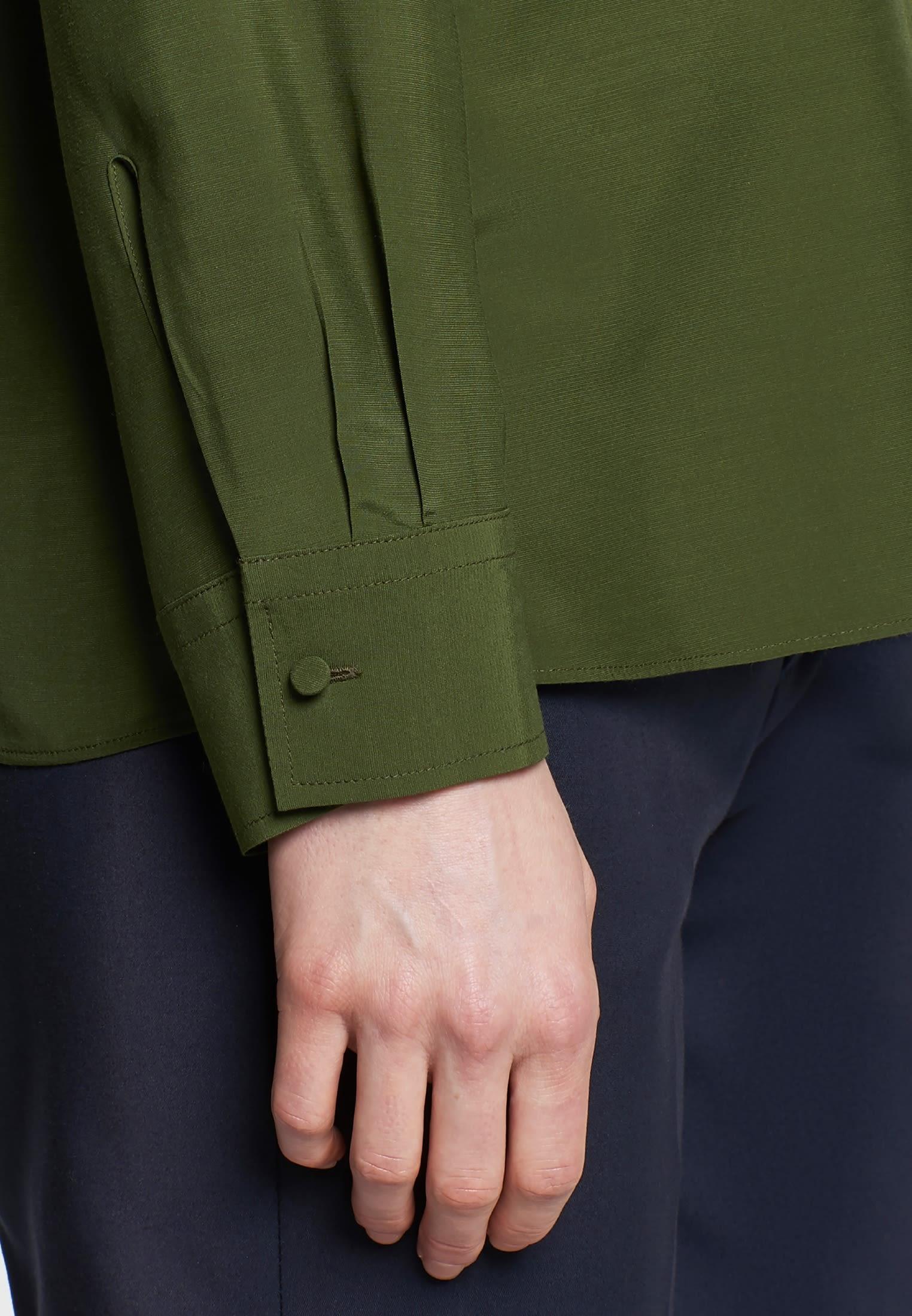 Voile Shirtbluse aus 100% Viskose in Grün |  Seidensticker Onlineshop