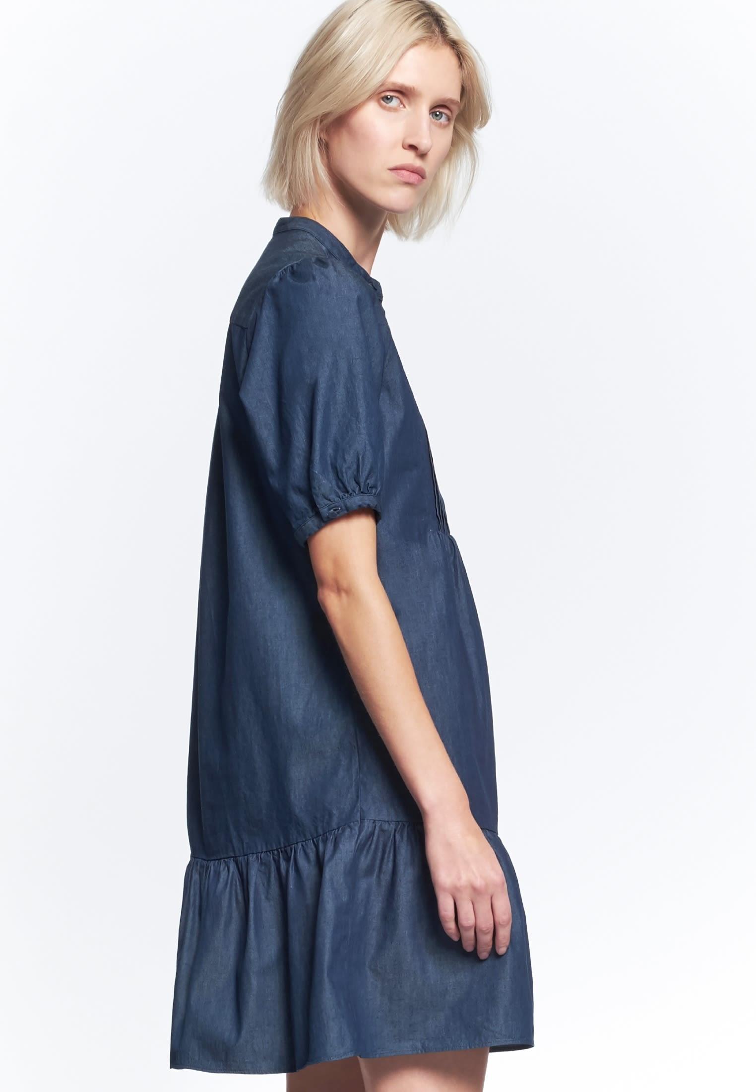 Denim Midi Kleid aus 100% Baumwolle