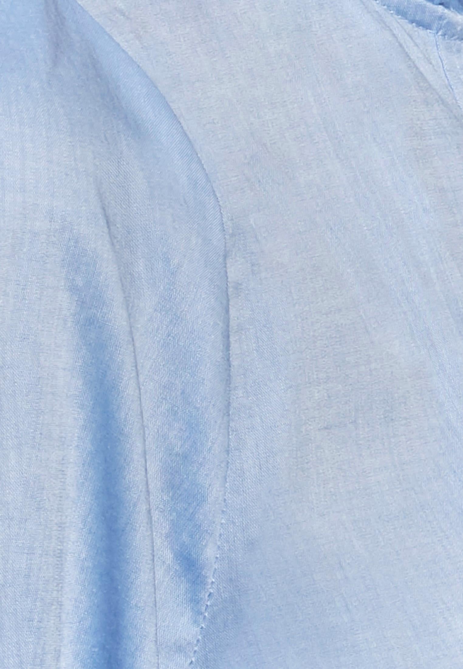 Chambray Stehkragenbluse aus 100% Baumwolle in Hellblau |  Seidensticker Onlineshop