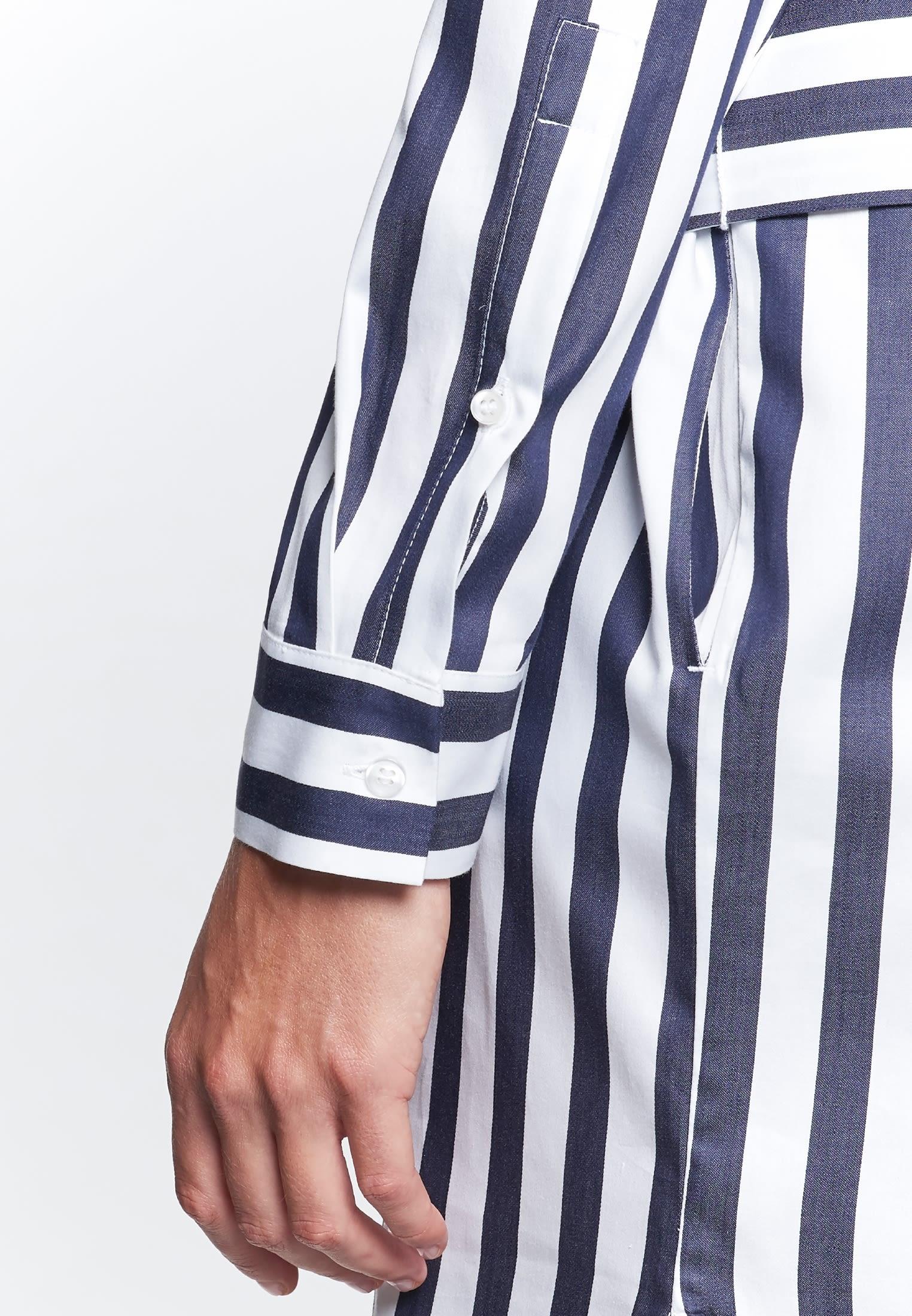 Satin Dress made of 100% Cotton in marine    Seidensticker Onlineshop