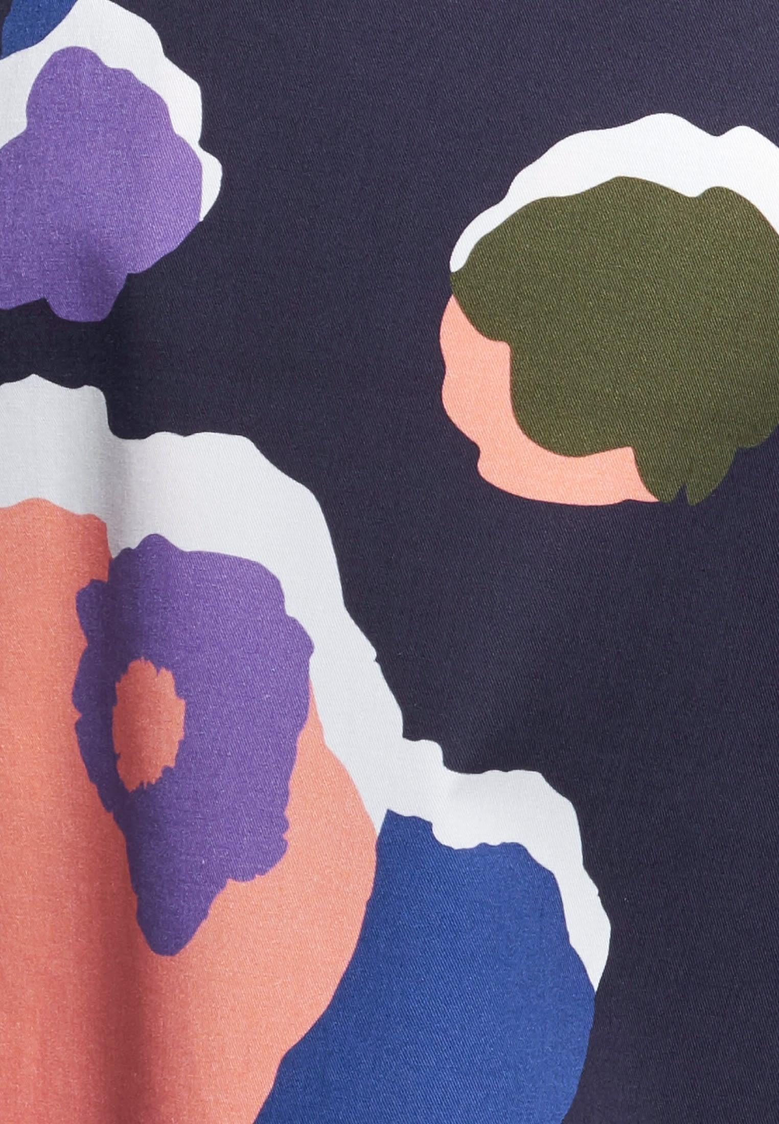 Satin Midi Rock aus 100% Baumwolle in Dunkelblau |  Seidensticker Onlineshop