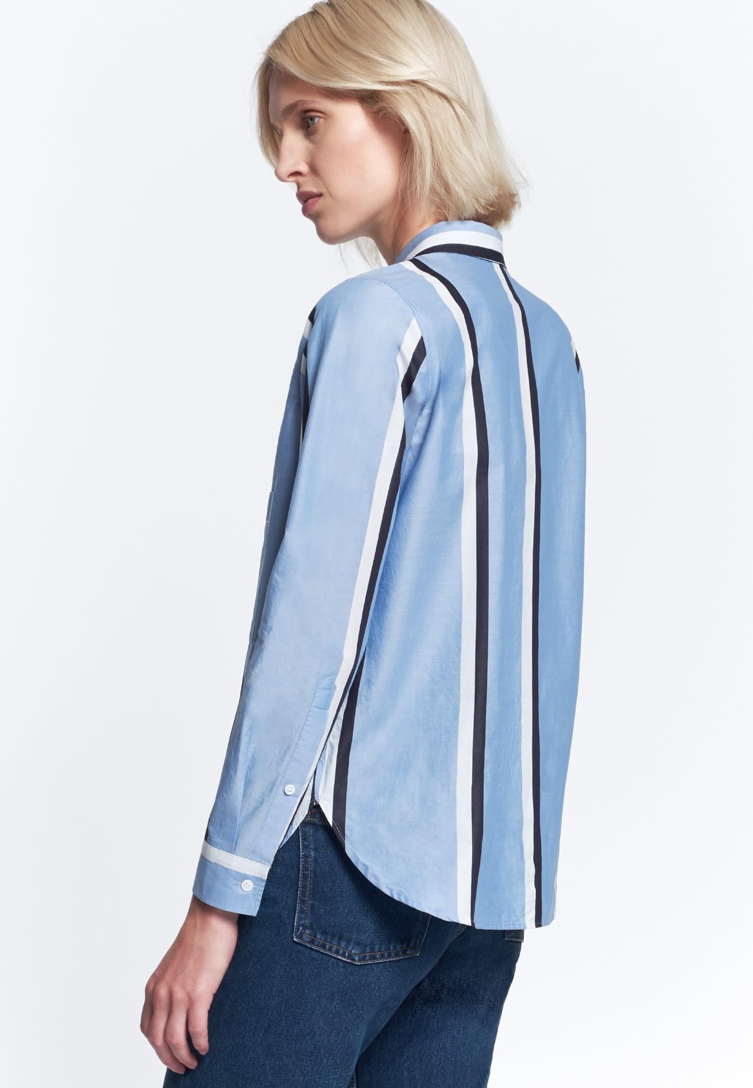 Struktur Hemdbluse aus 100% Baumwolle in Hellblau    Seidensticker Onlineshop