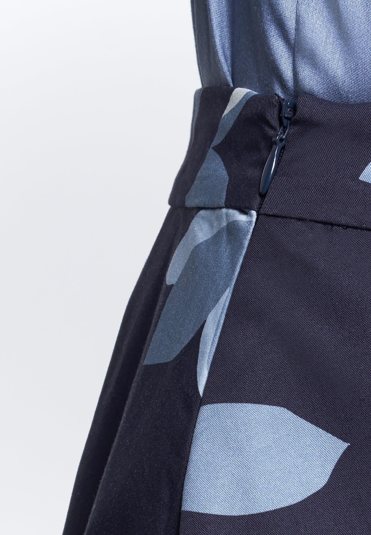 Satin Midi Rock aus 100% Baumwolle in Dunkelblau    Seidensticker Onlineshop