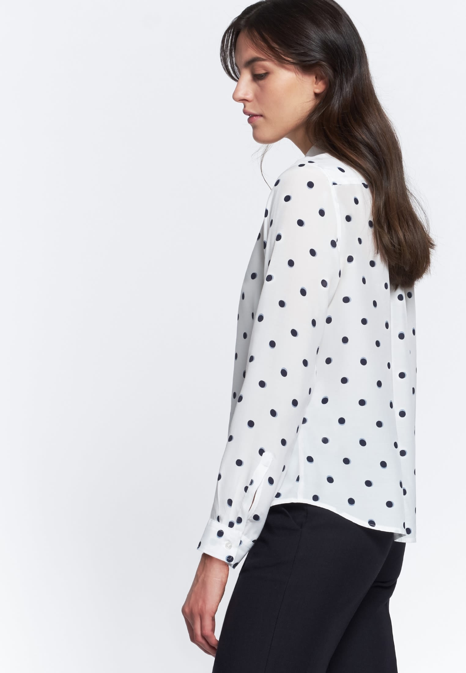 Voile Shirt Blouse made of 100% Viscose in White |  Seidensticker Onlineshop