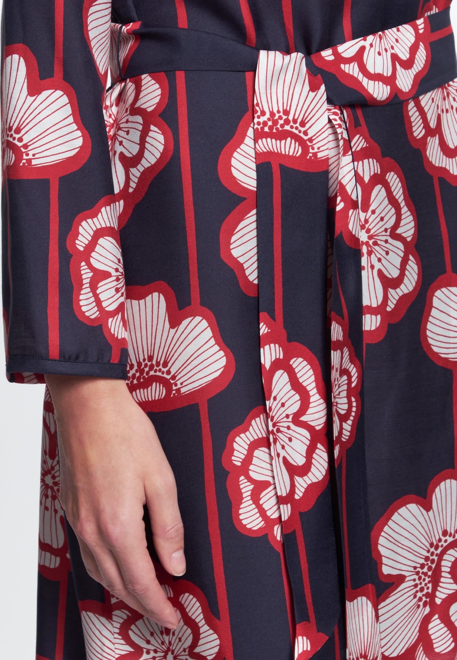 Voile Midi Kleid aus Seidenmischung in Dunkelblau |  Seidensticker Onlineshop