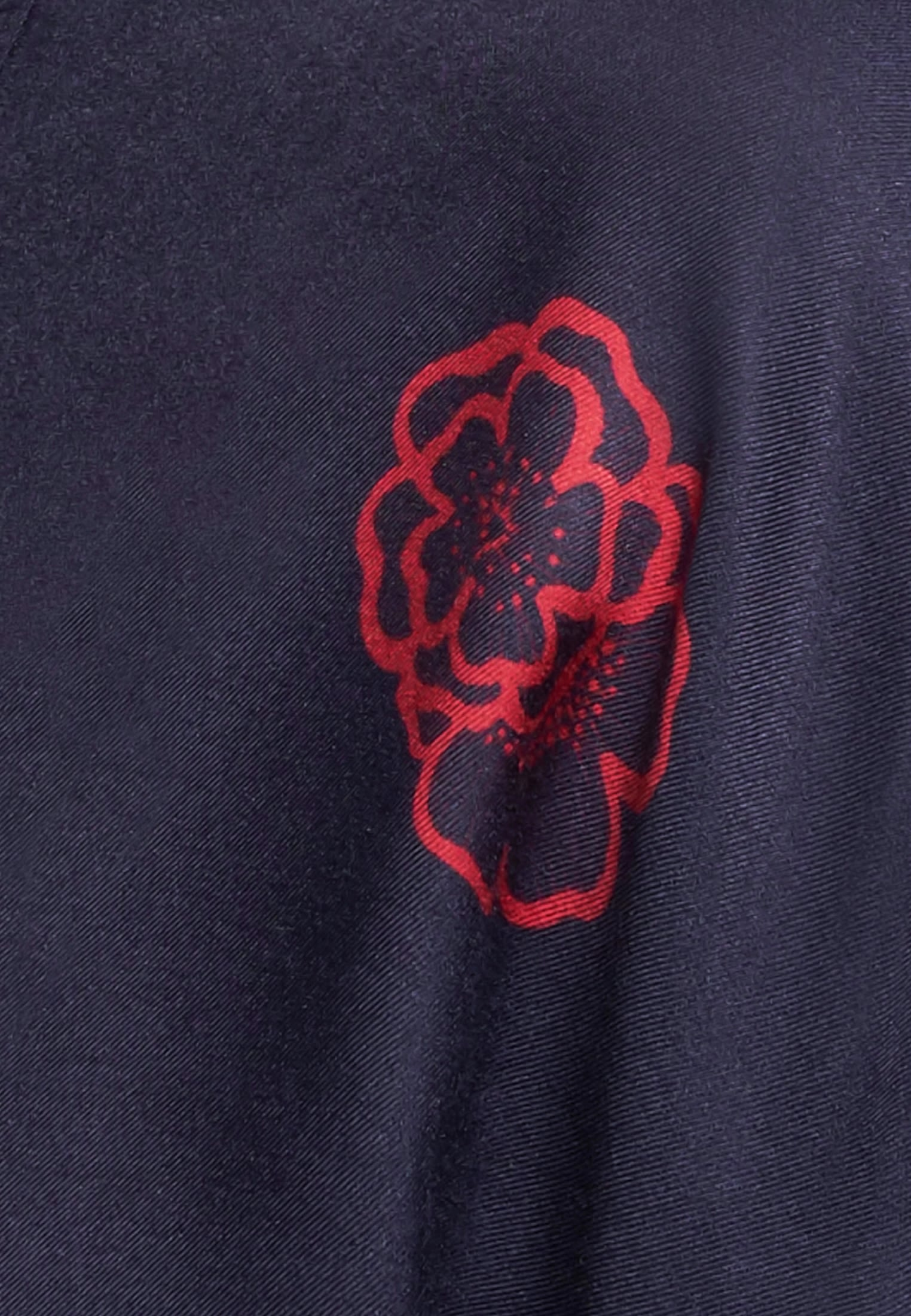 Voile Slip Over Blouse made of silk blend in Dark blue |  Seidensticker Onlineshop