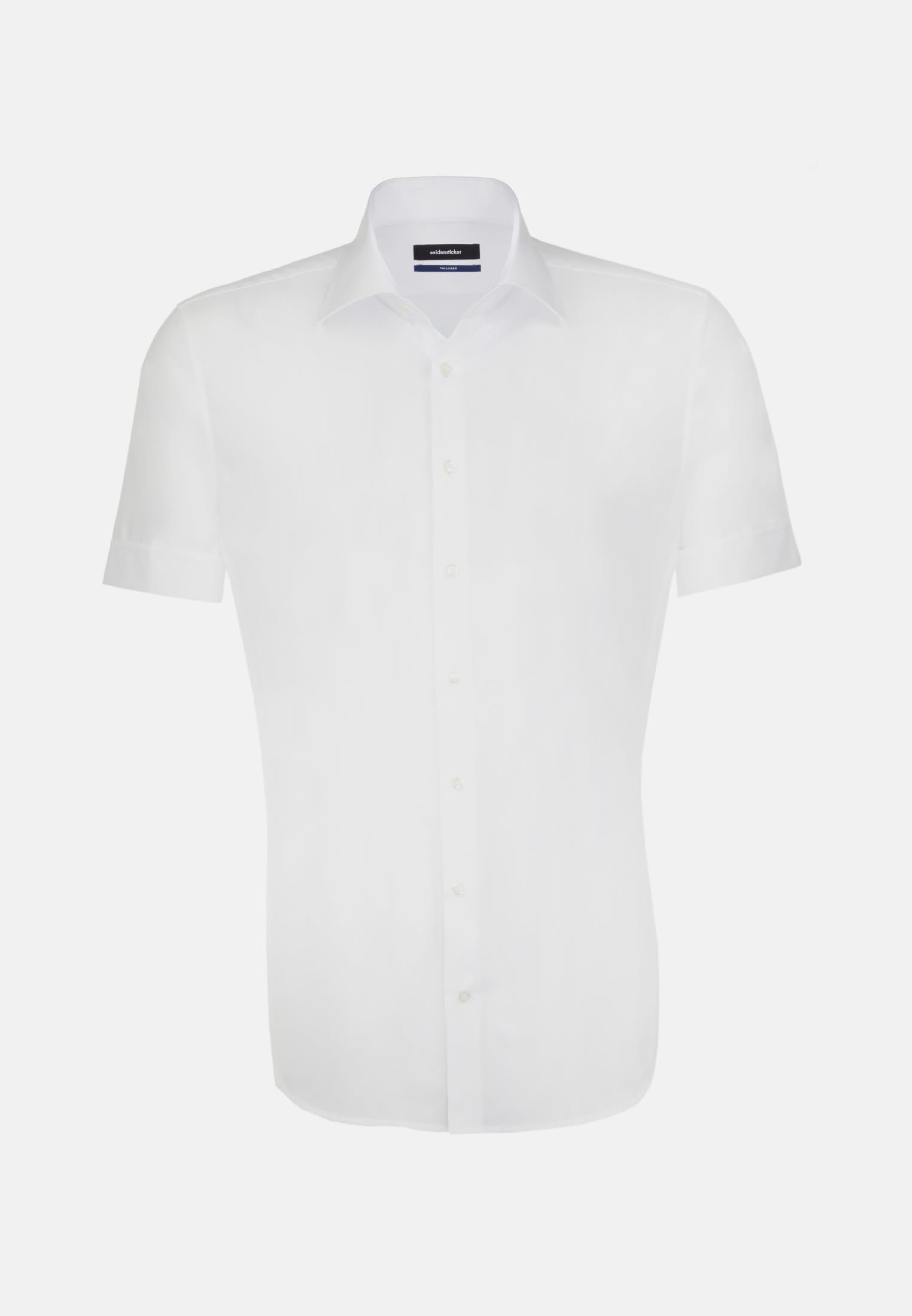 Non-iron Poplin Short arm Business Shirt in Tailored with Kent-Collar in weiß |  Seidensticker Onlineshop