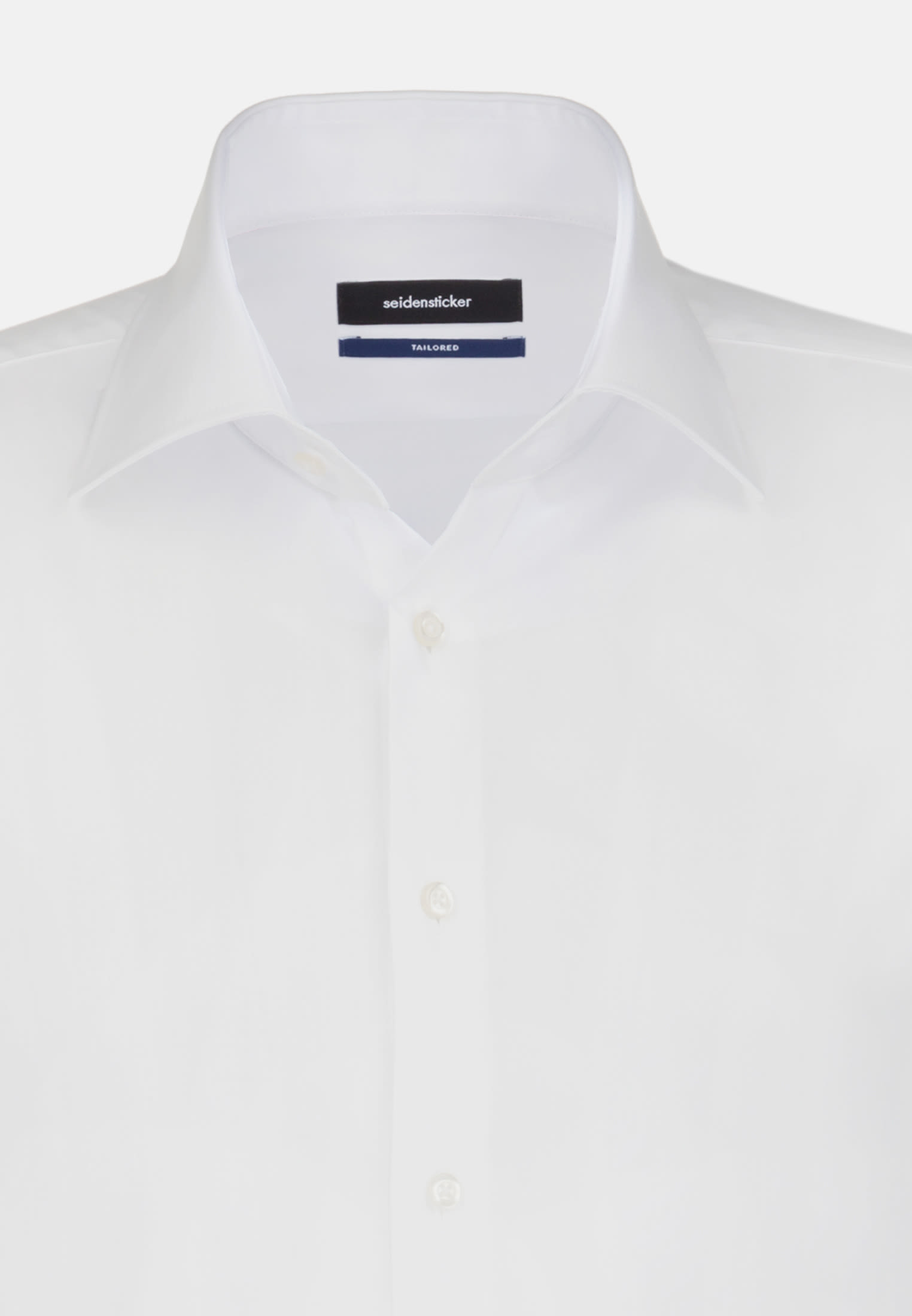Non-iron Poplin Short arm Business Shirt in Shaped with Kent-Collar in White |  Seidensticker Onlineshop