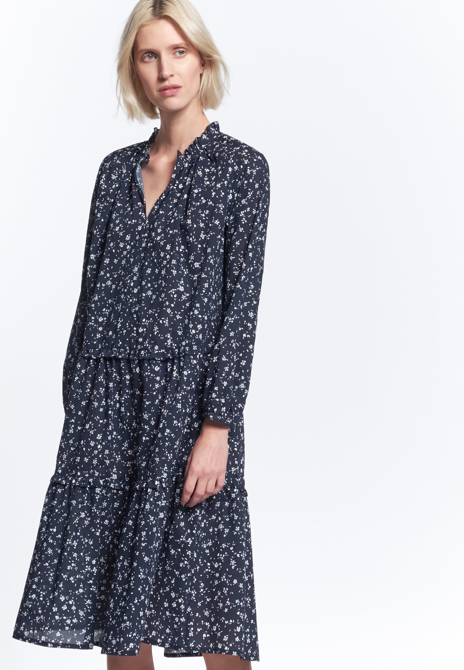 Voile Midi Kleid aus 18% Baumwolle