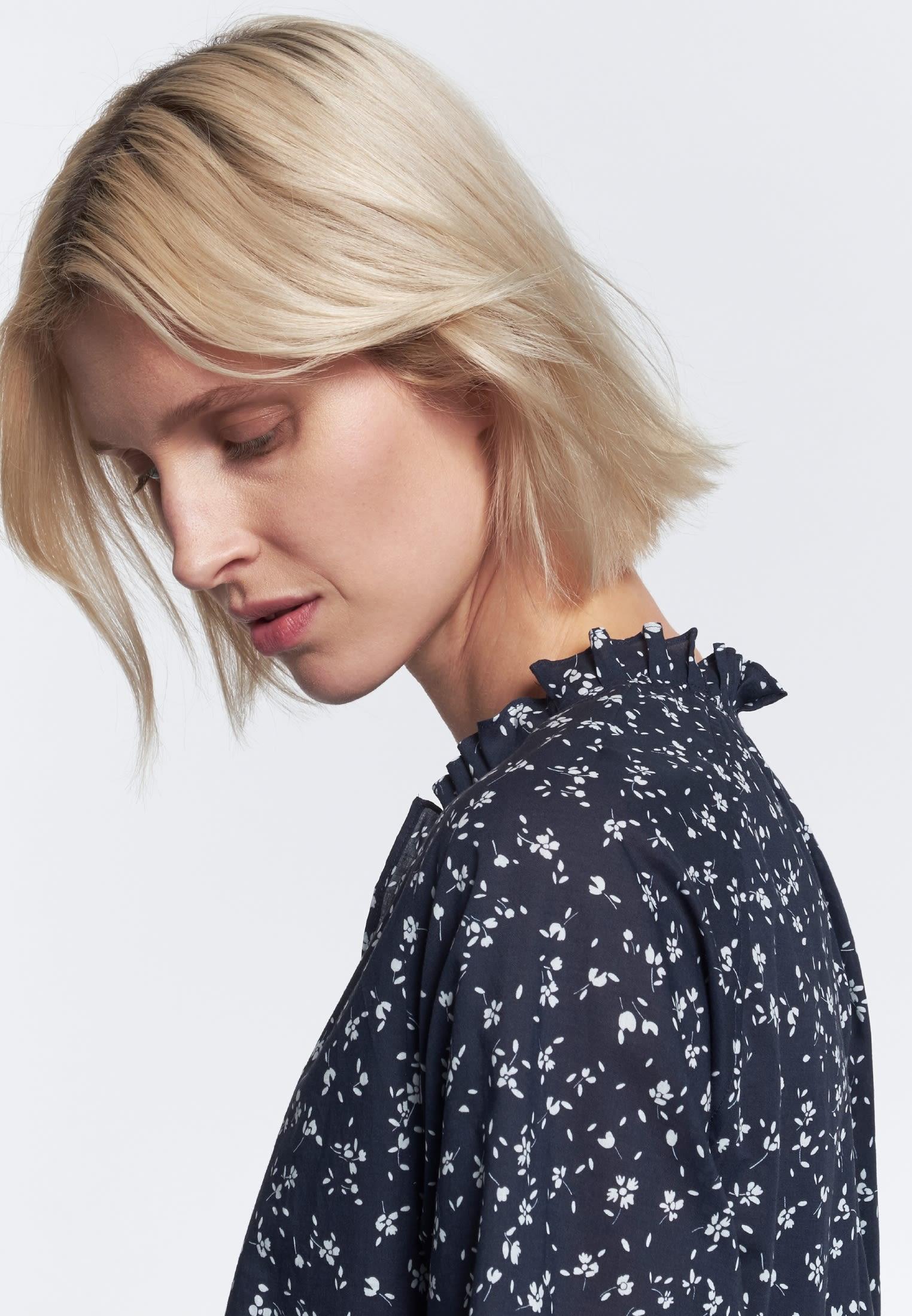 Voile Midi Dress made of 100% Cotton in Dark blue |  Seidensticker Onlineshop