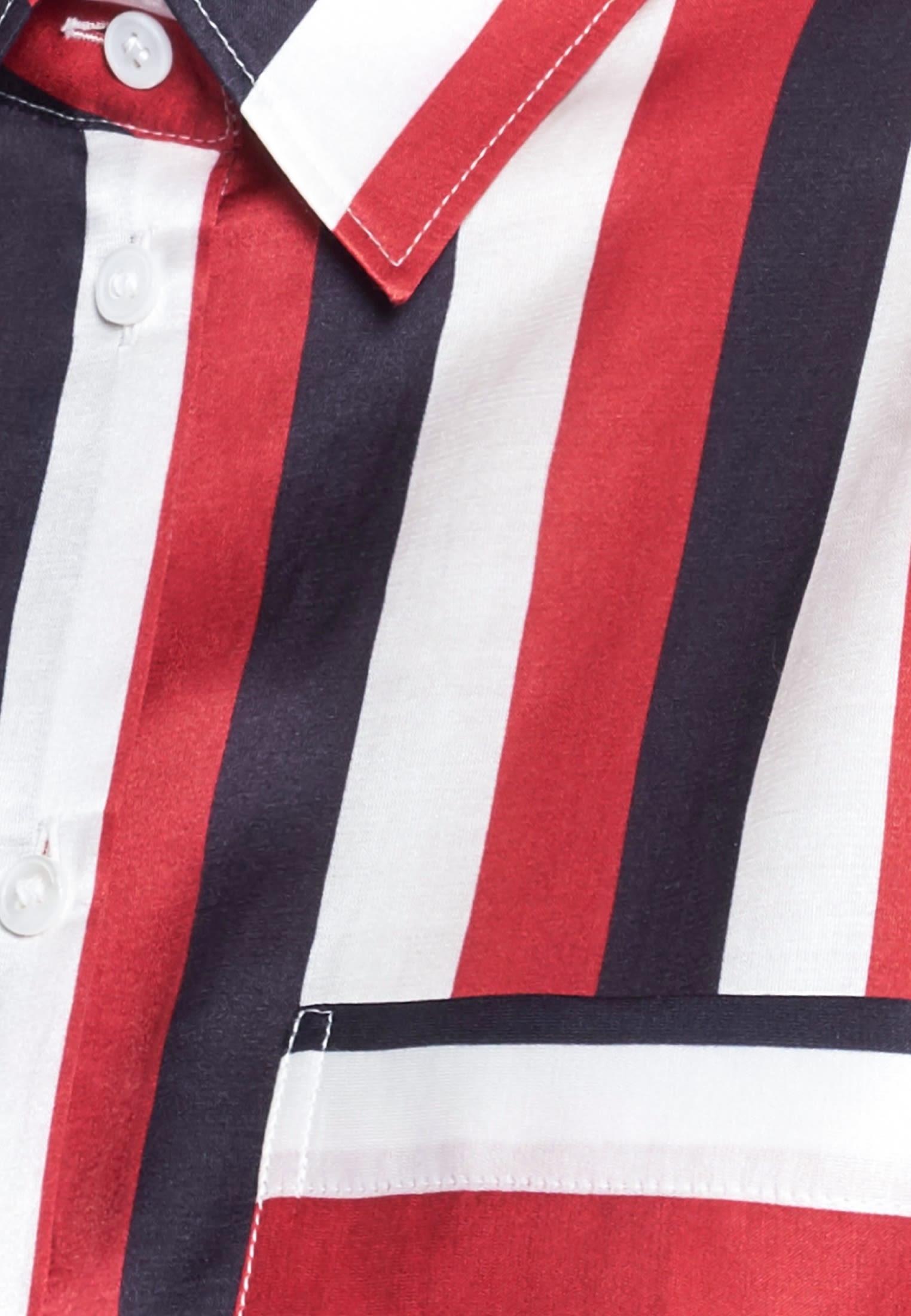 Poplin Shirt Blouse made of 70% Cotton 30% Silk in Dark blue |  Seidensticker Onlineshop