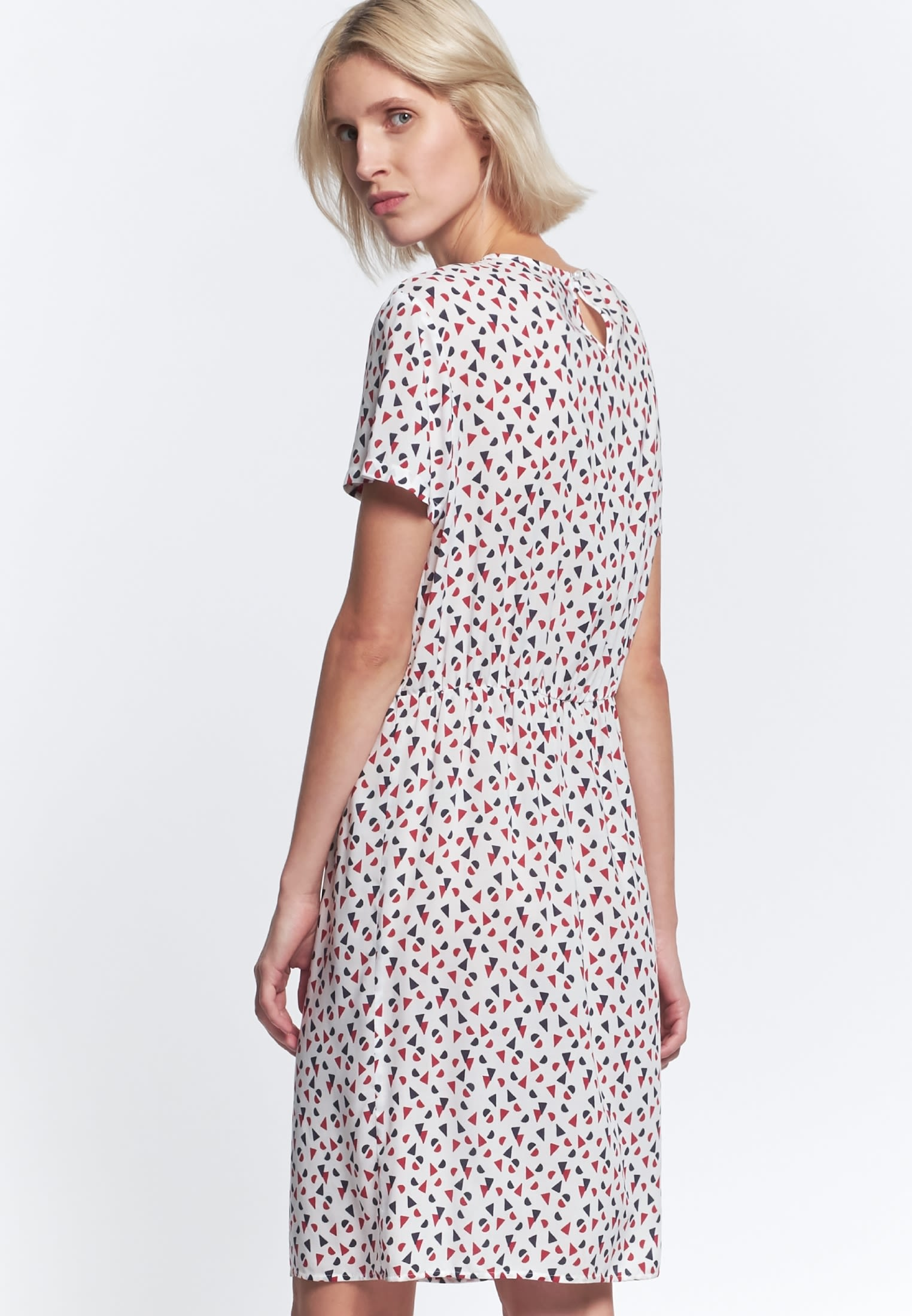Poplin Midi Dress made of 100% Viscose in Red |  Seidensticker Onlineshop