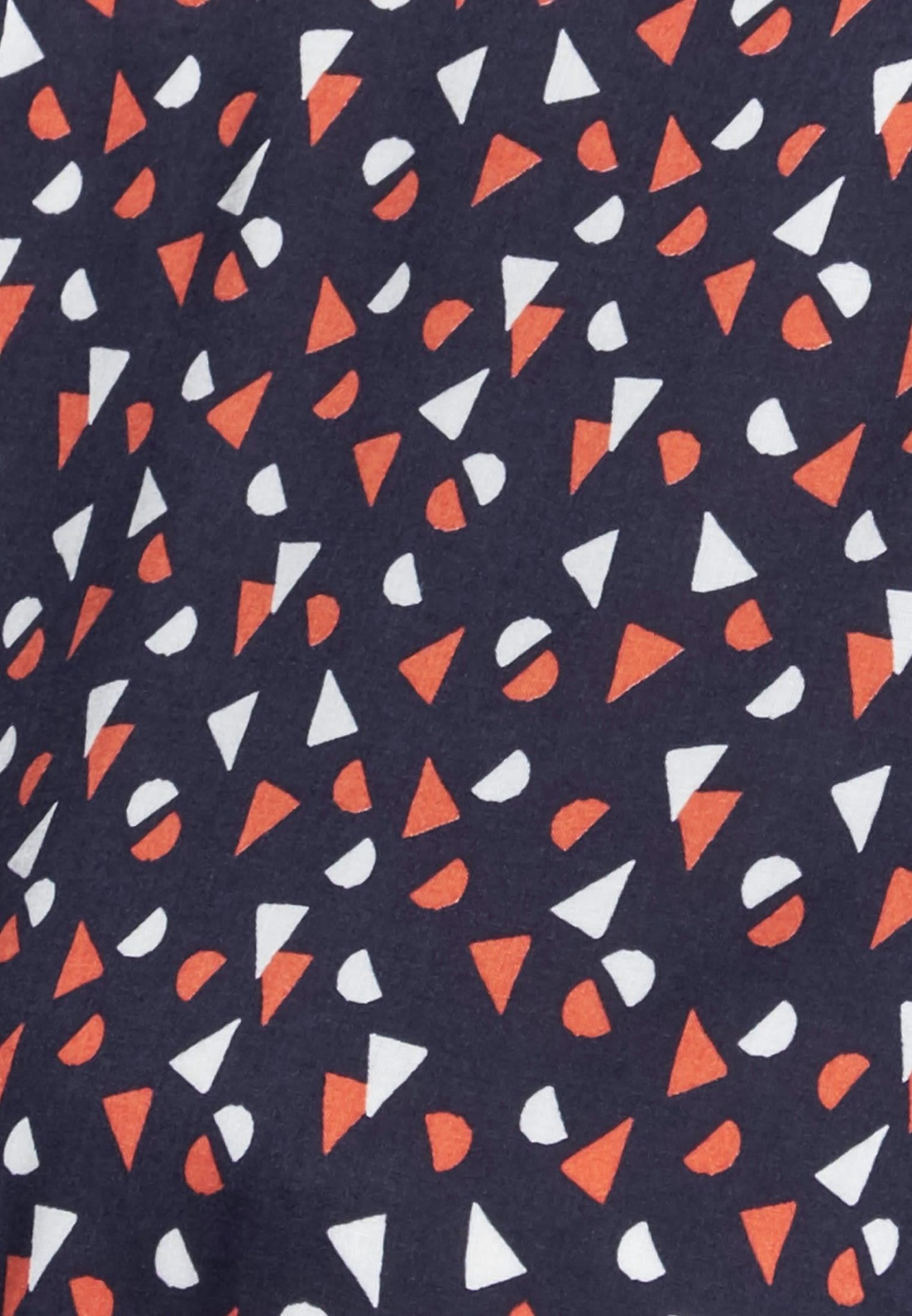Popeline Midi Kleid aus 100% Viskose in Dunkelblau |  Seidensticker Onlineshop