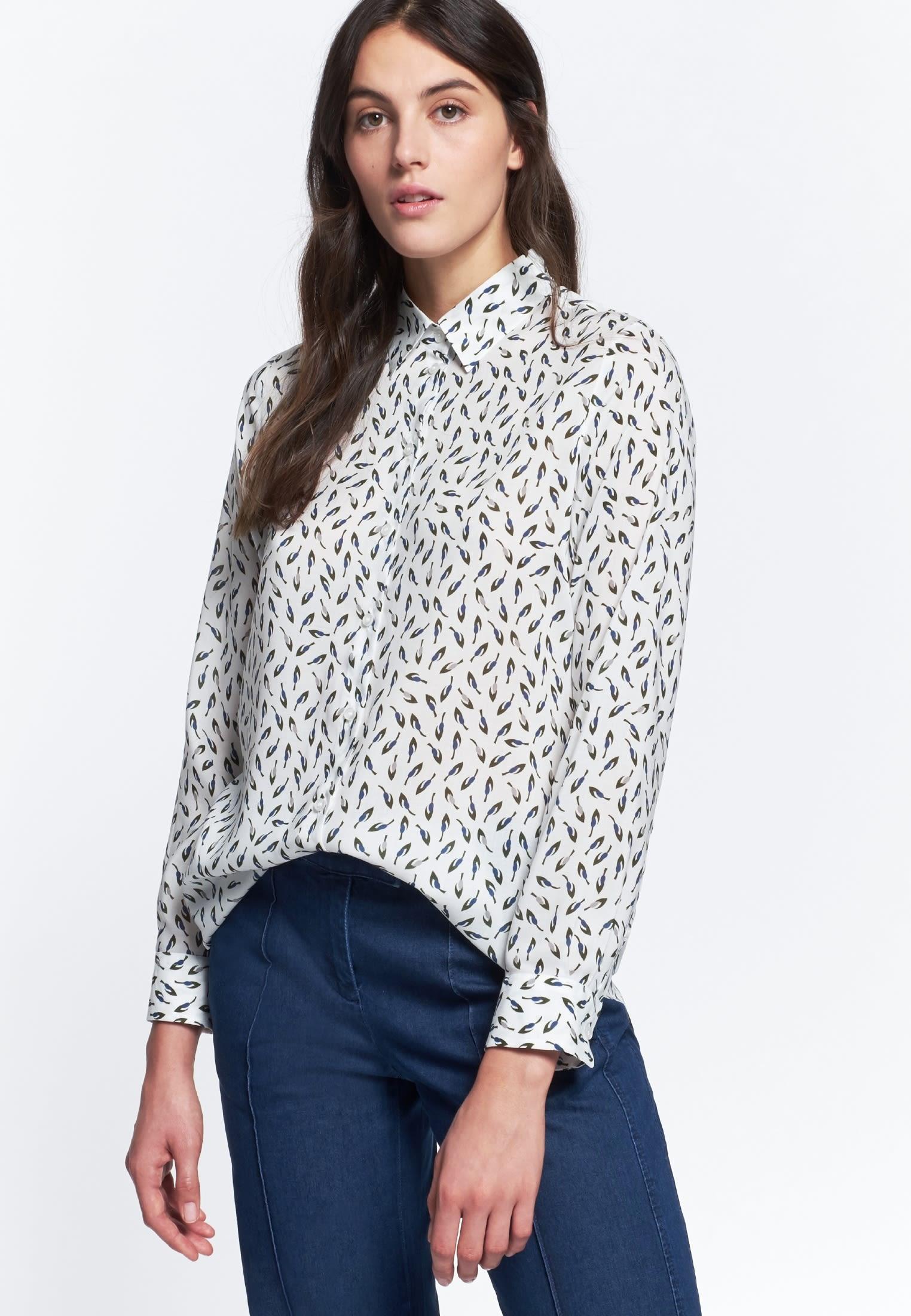 Voile Shirt Blouse made of 100% Viskose in Green |  Seidensticker Onlineshop