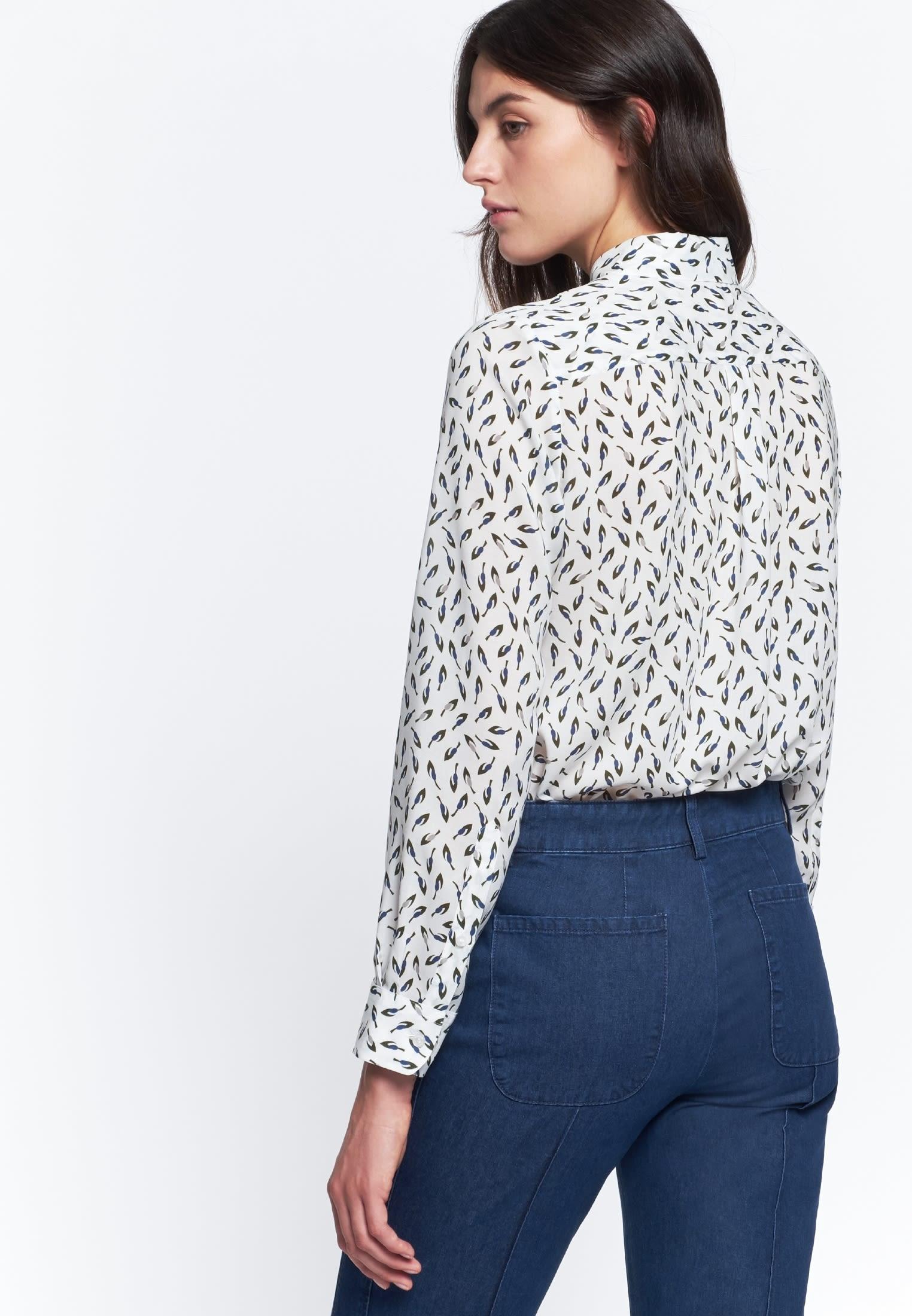Voile Shirt Blouse made of 100% Viskose in grün |  Seidensticker Onlineshop