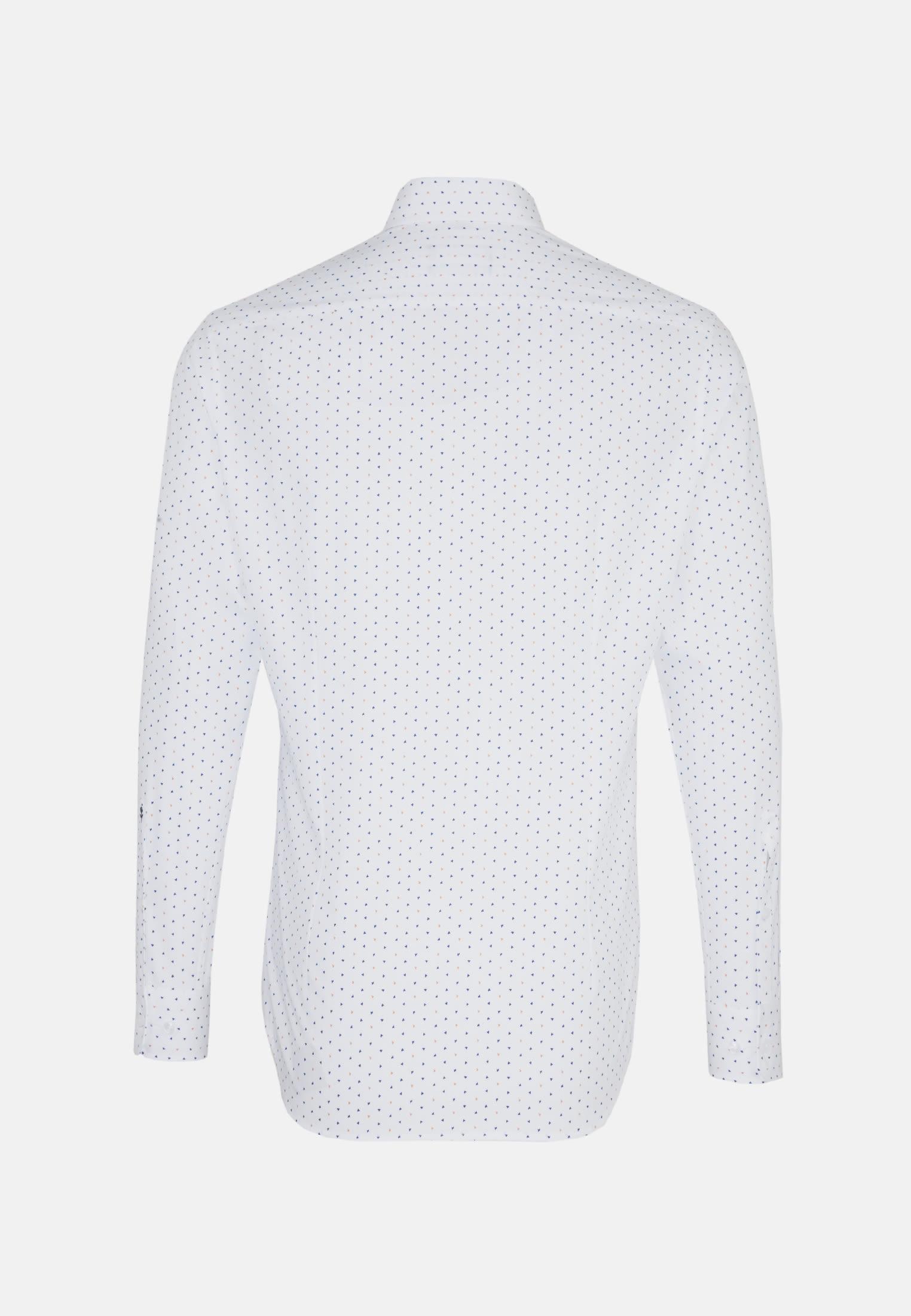 Bügelleichtes Popeline Business Hemd in Shaped mit Covered-Button-Down-Kragen in Orange |  Seidensticker Onlineshop