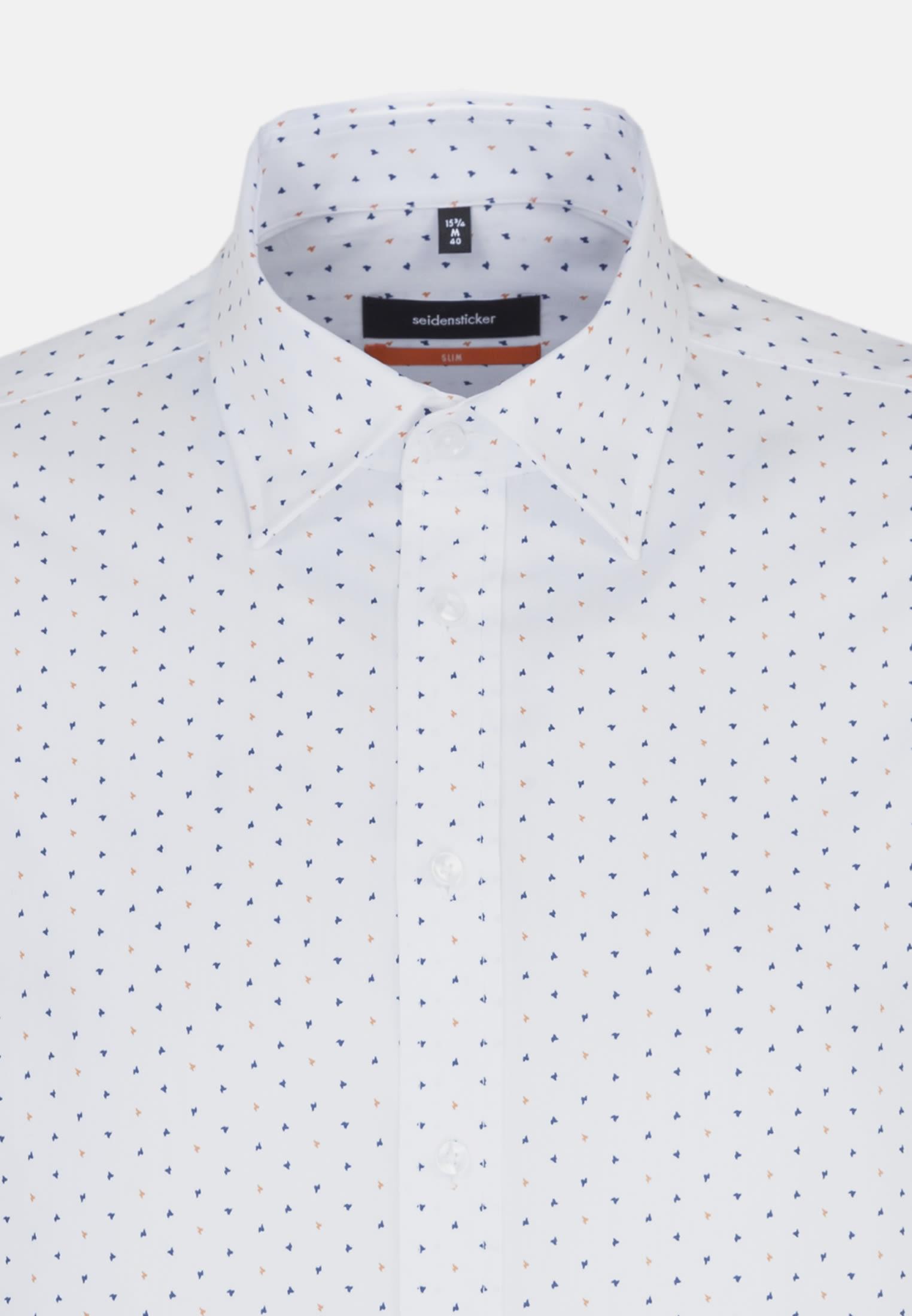 Bügelleichtes Popeline Business Hemd in Slim mit Covered-Button-Down-Kragen in Orange |  Seidensticker Onlineshop
