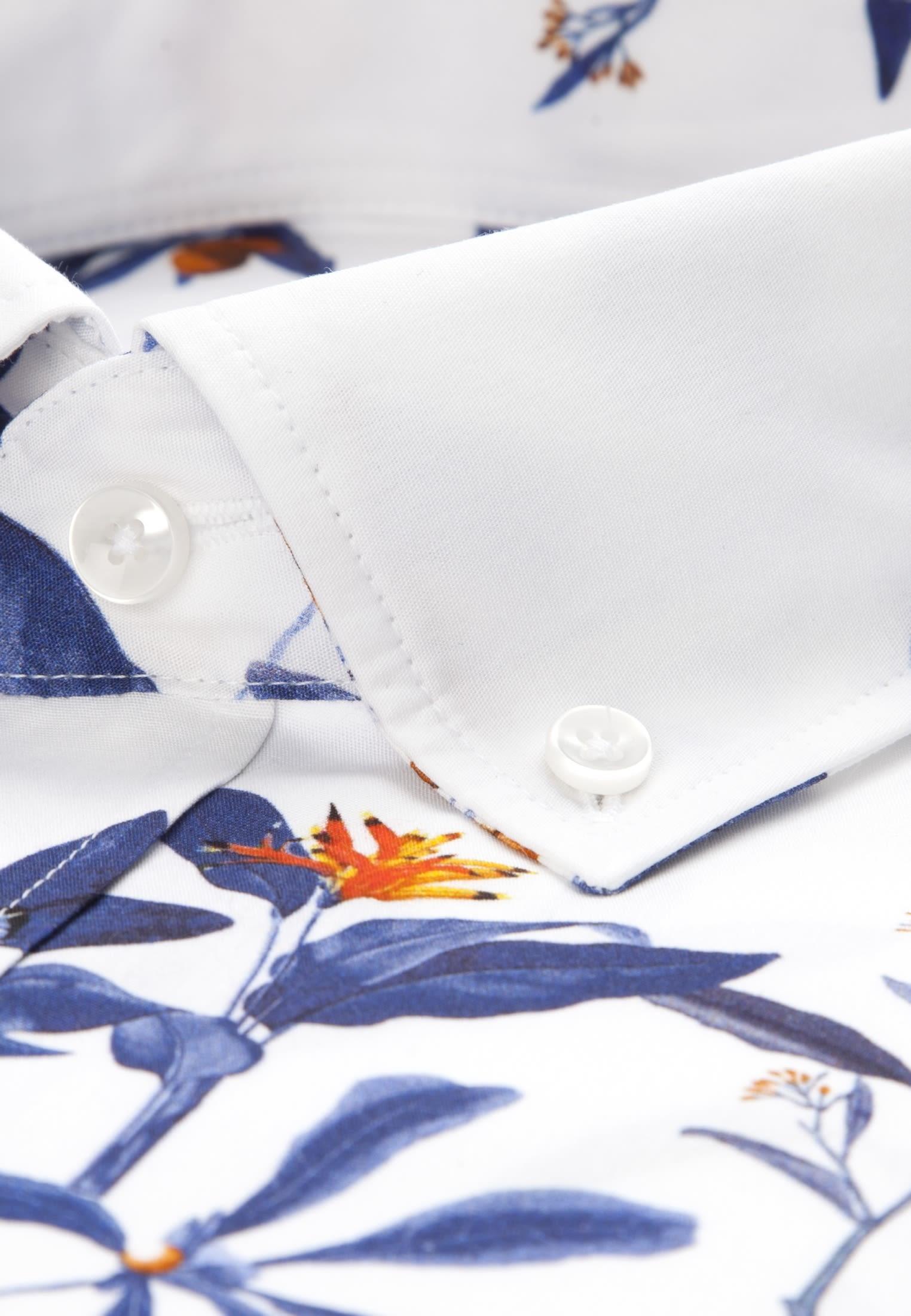 Easy-iron Poplin Business Shirt in Regular with Button-Down-Collar in Dark blue |  Seidensticker Onlineshop