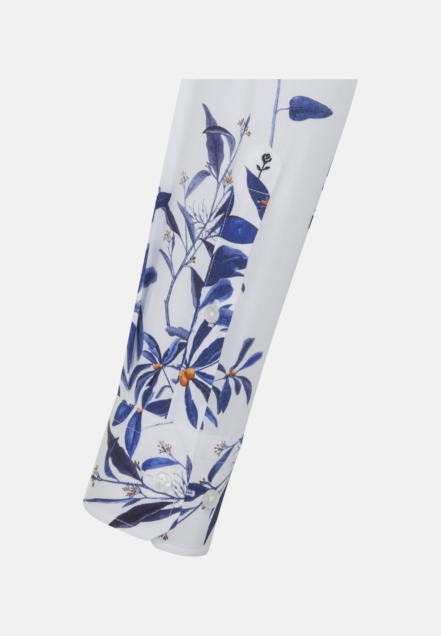 Bügelleichtes Popeline Business Hemd in Shaped mit Button-Down-Kragen in Dunkelblau |  Seidensticker Onlineshop