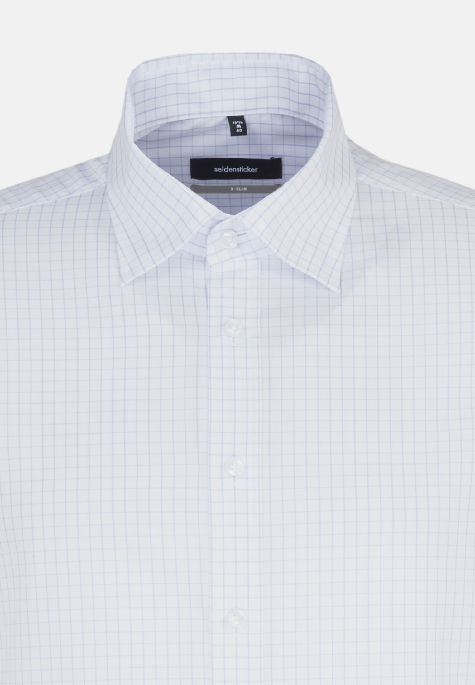 Non-iron Poplin Business Shirt in X-Slim with Kent-Collar and extra long arm in hellblau |  Seidensticker Onlineshop