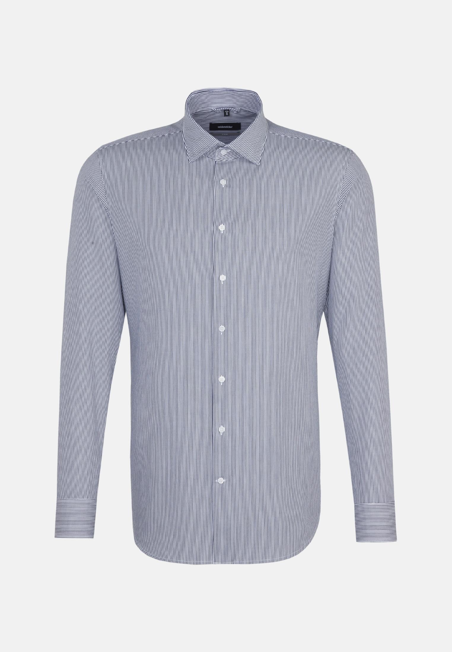 Bügelleichtes Twill Business Hemd in X-Slim mit Kentkragen in Dunkelblau |  Seidensticker Onlineshop